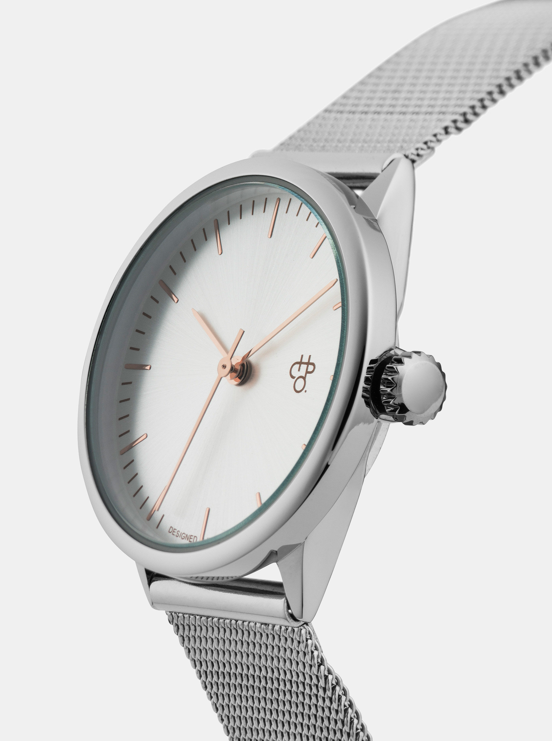 ca3b90dd3 Dámské hodinky s kovovým páskem ve stříbrné barvě CHPO Nando Mini Rose ...