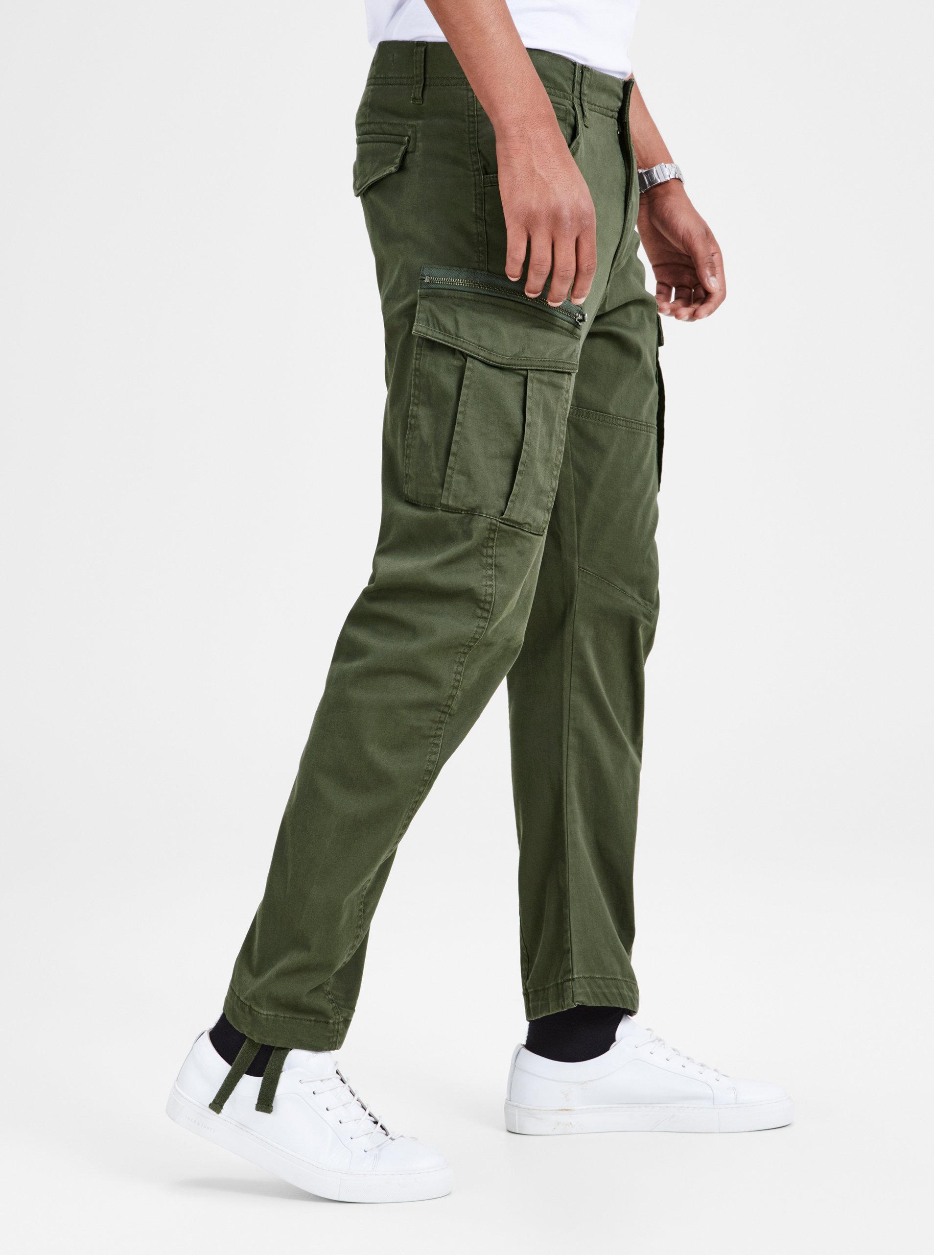 a909a8fa4e5 Khaki anti fit kalhoty s kapsami Jack   Jones Drake ...