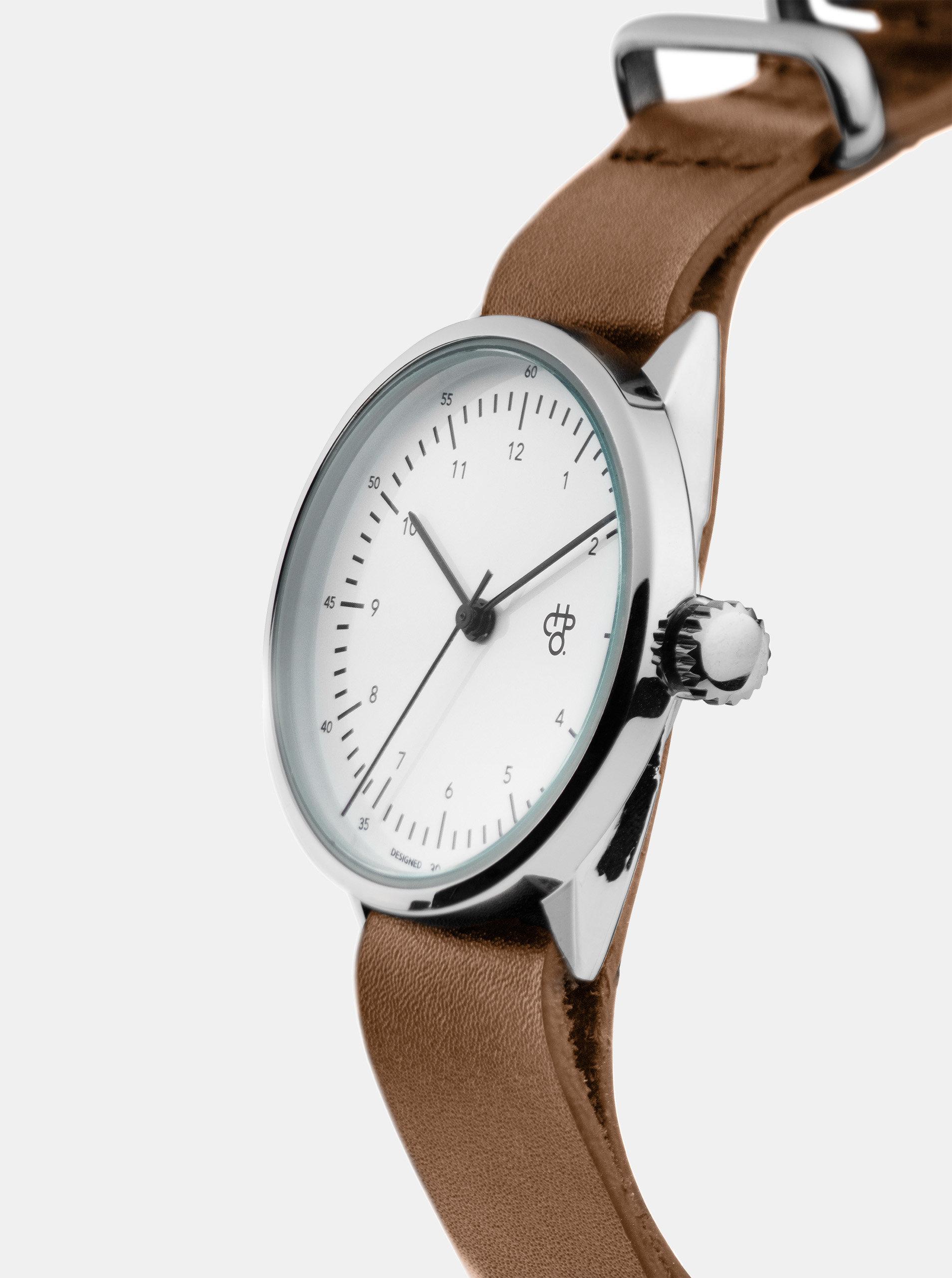 Dámské hodinky s hnědým koženým páskem CHPO Harold Mini ... cbf2c9a84c