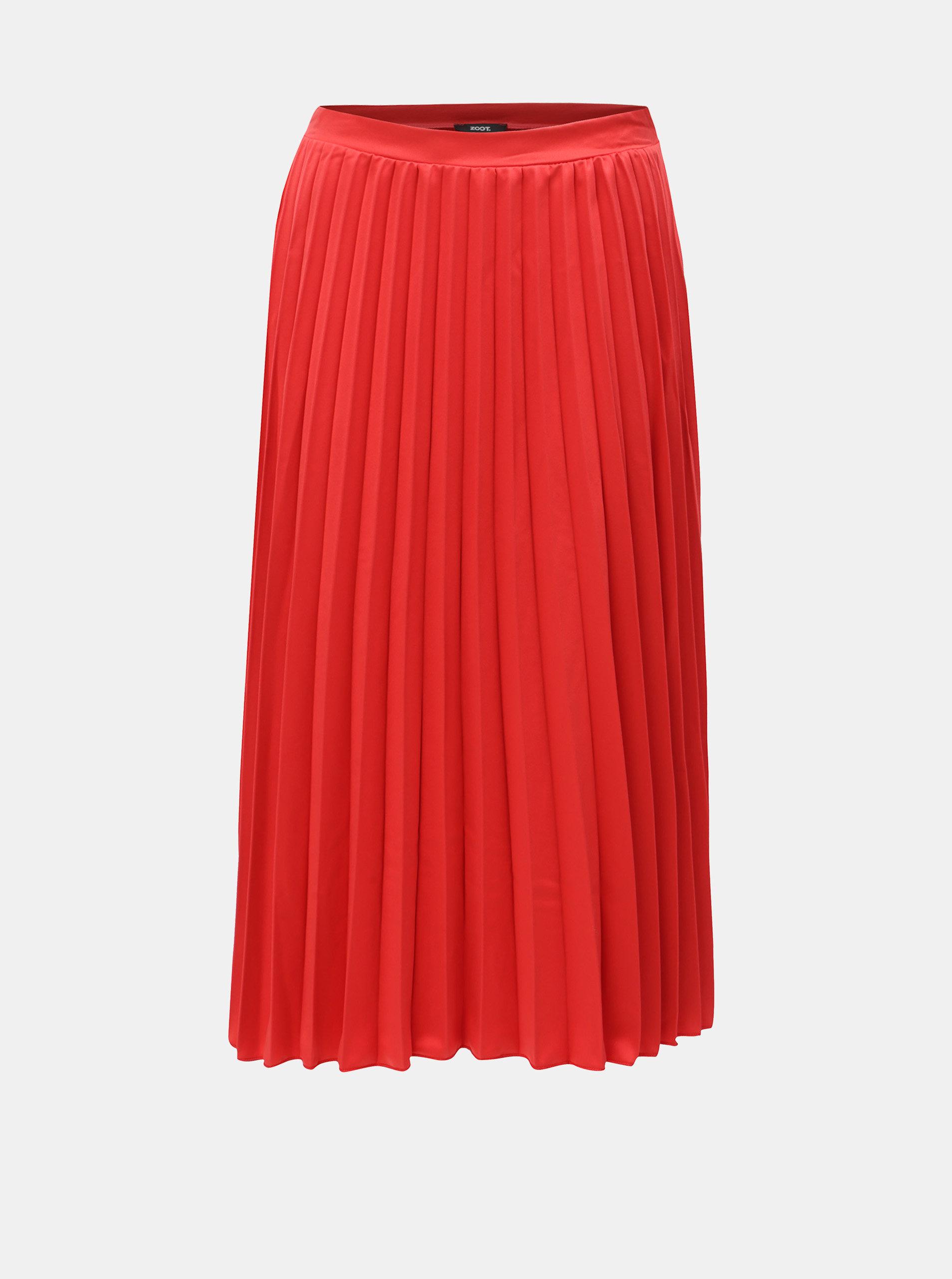 Červená plisovaná sukně ZOOT ... 0d52ca5d98