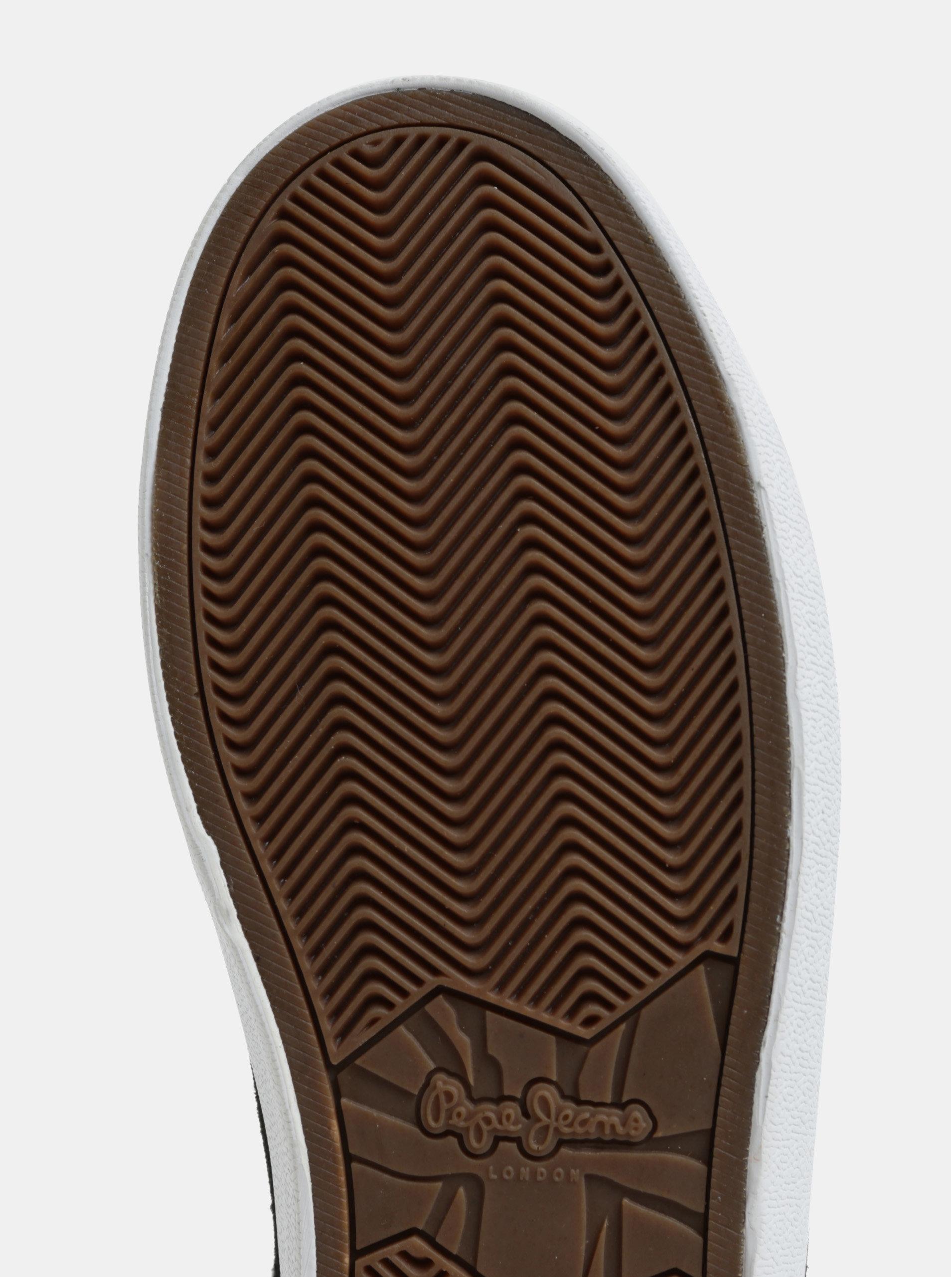 a94608c44ea6 Čierne pánske kožené tenisky Pepe Jeans North ...