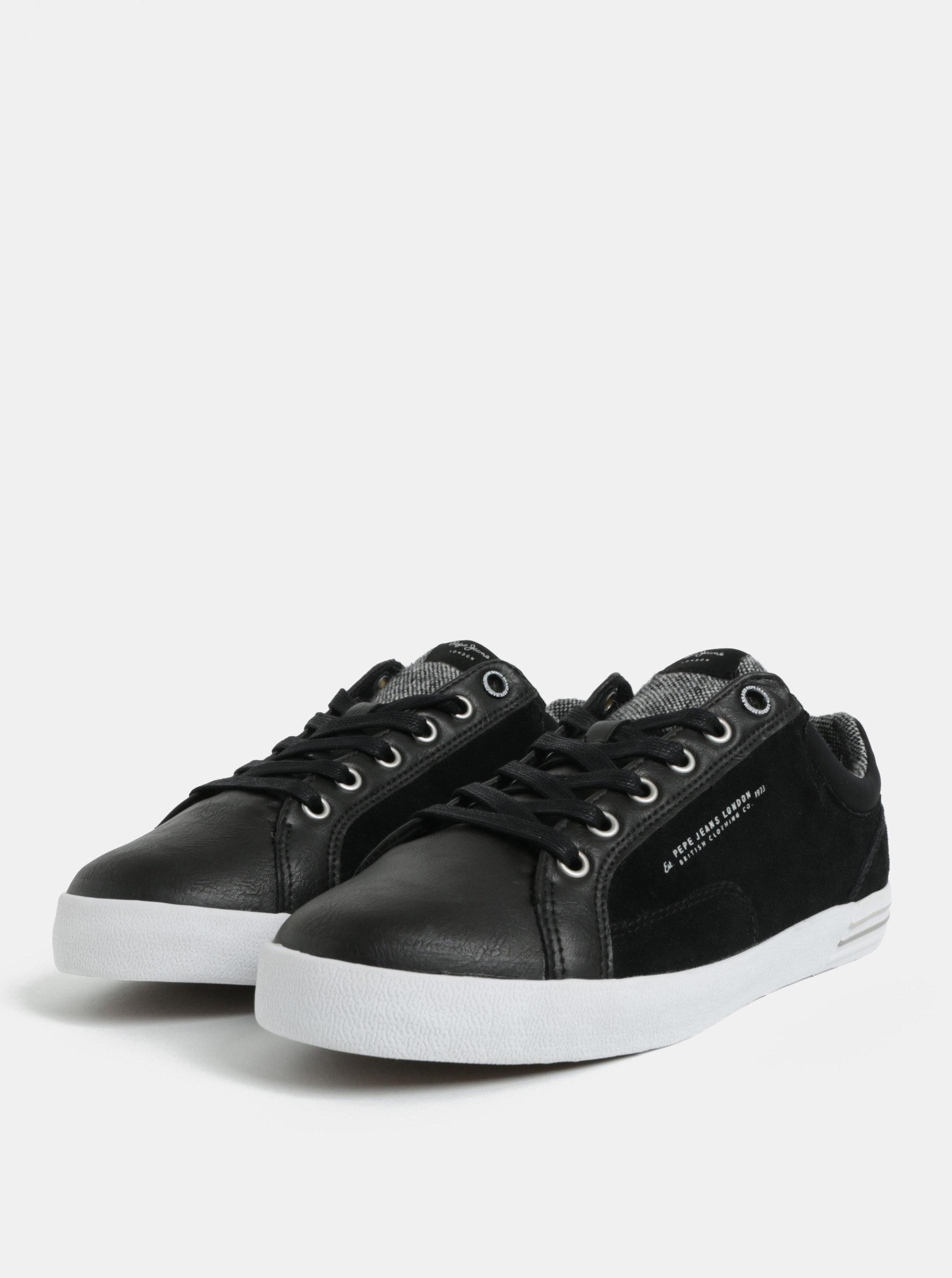Černé pánské kožené tenisky Pepe Jeans North ... e1cdded3dde