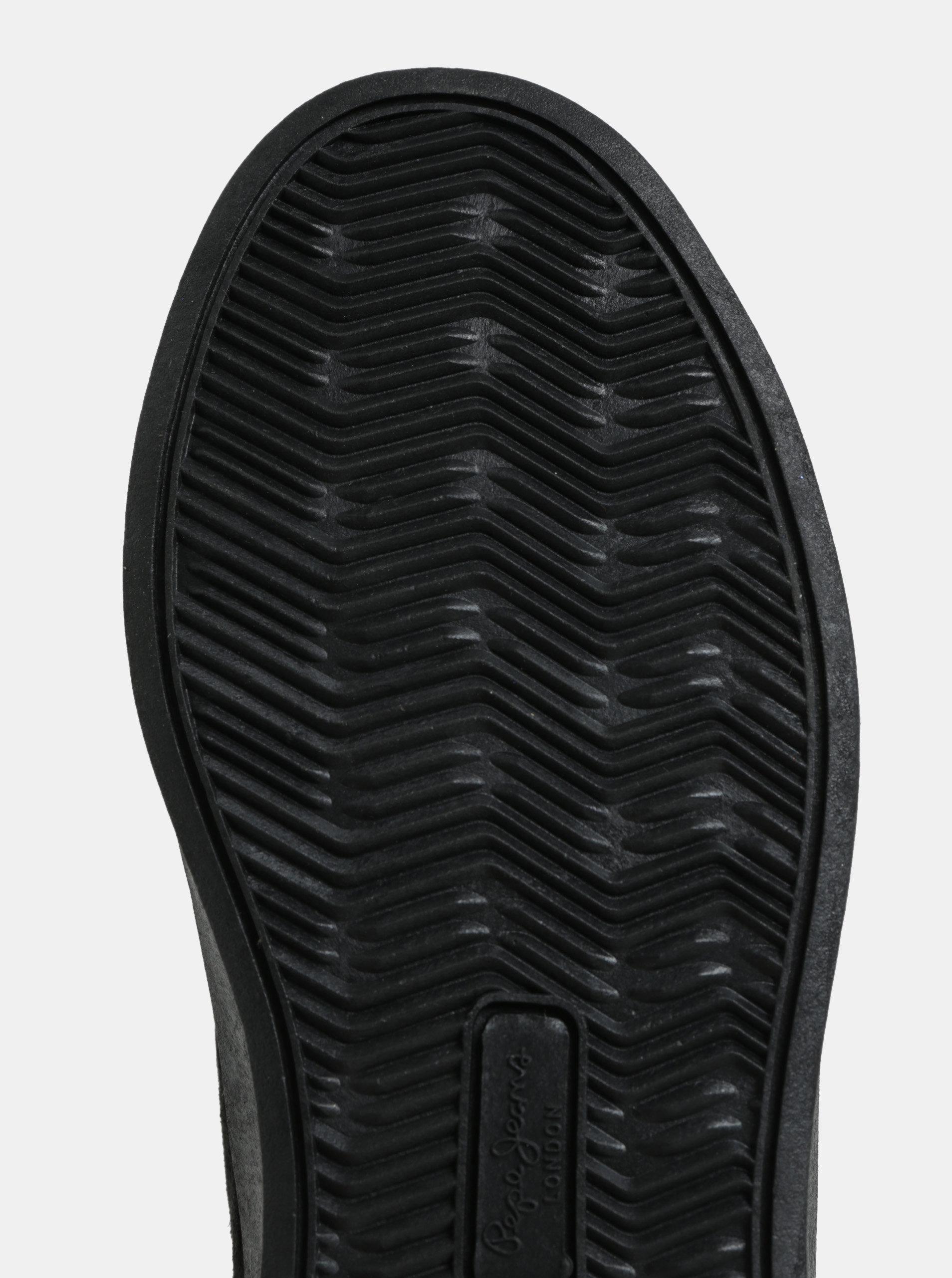 Černé dámské semišové kotníkové tenisky Pepe Jeans Brixton ... 14f172afaa8
