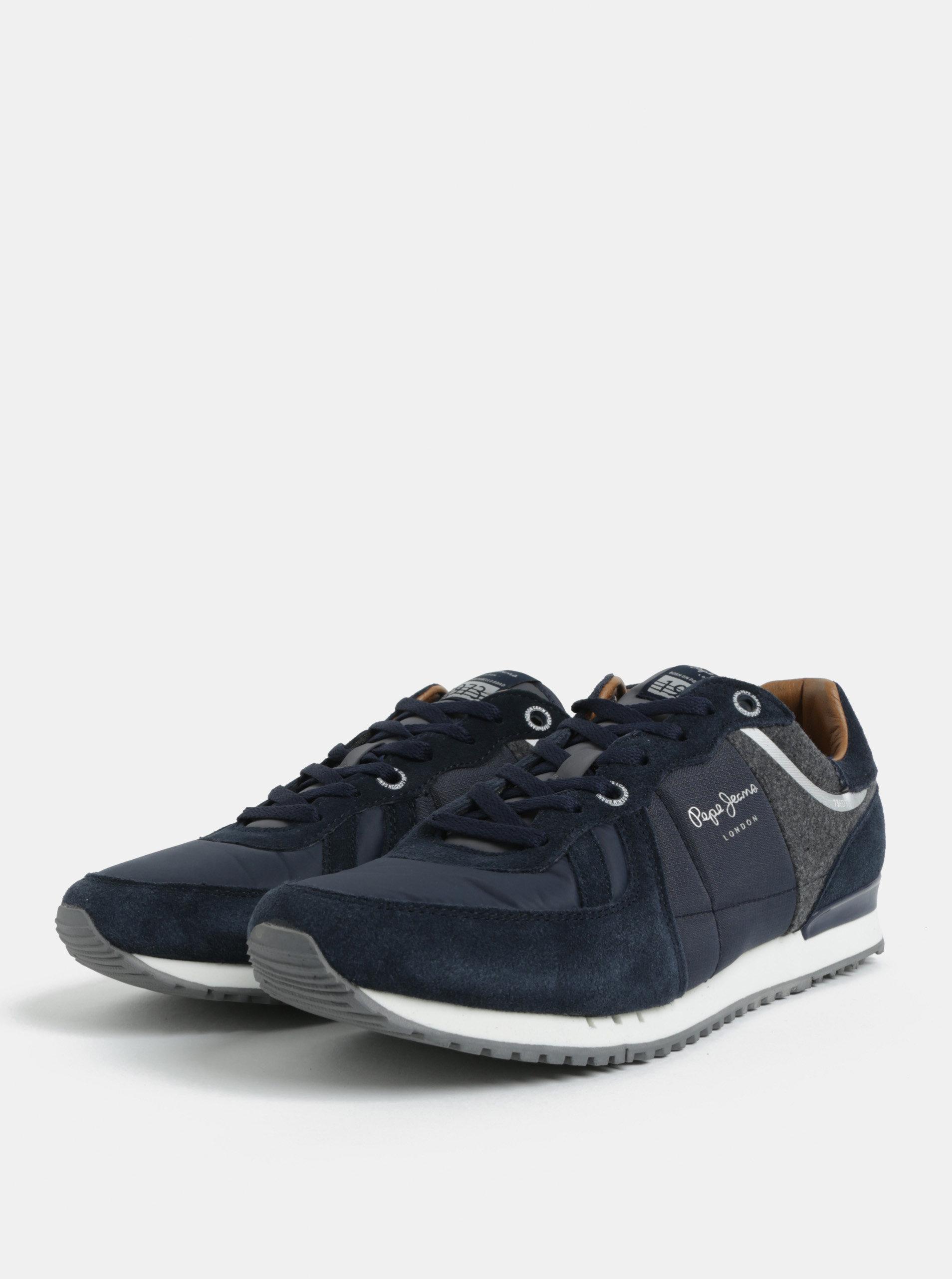 52502ec9915 Tmavě modré pánské semišové tenisky Pepe Jeans Tinker ...