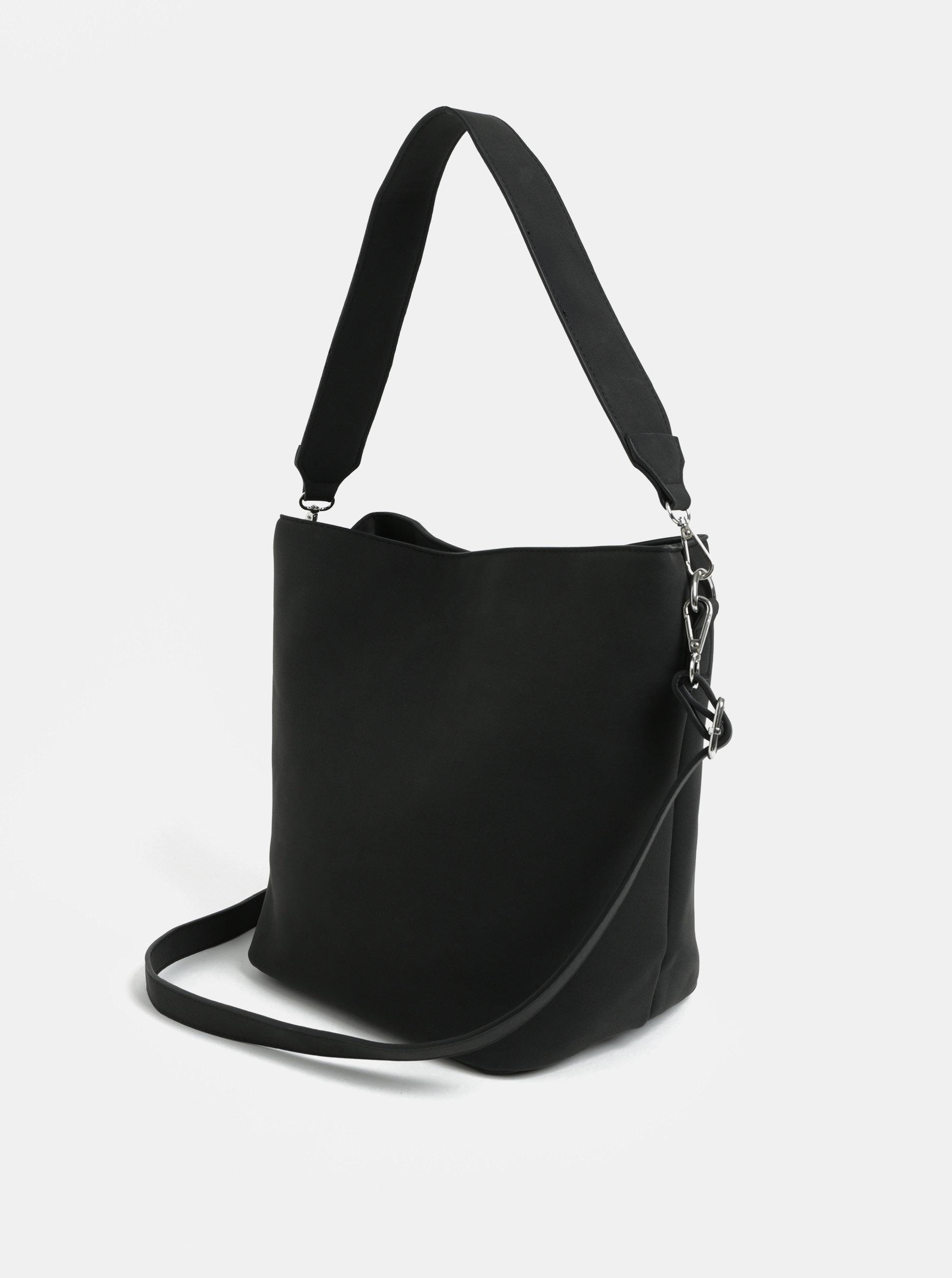 db91841813 Černá kabelka přes rameno Pieces Therese ...