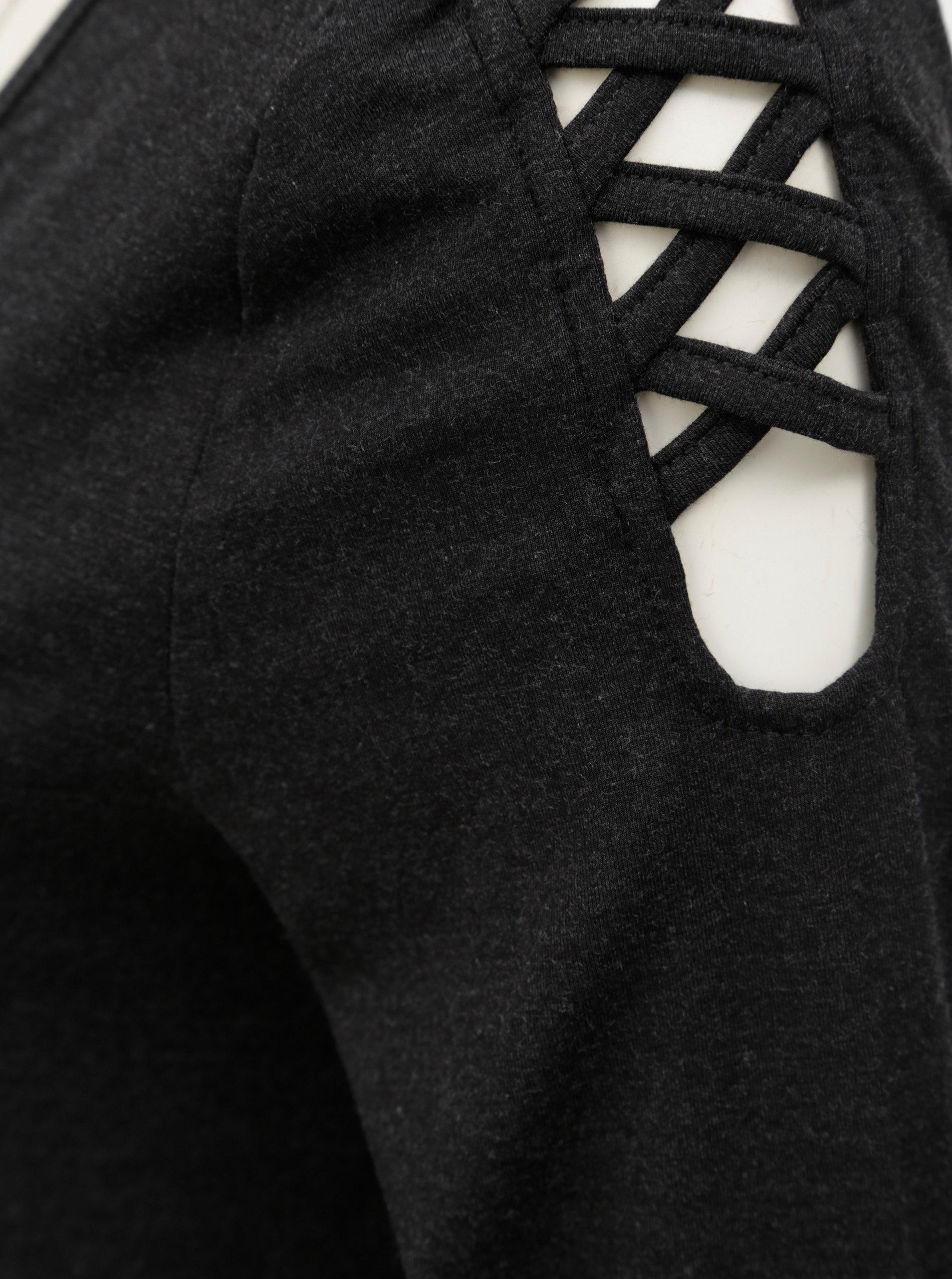 797ae2c804a3 Tmavosivé tričko s dlhým rukávom a pásikmi na ramenách Yest ...