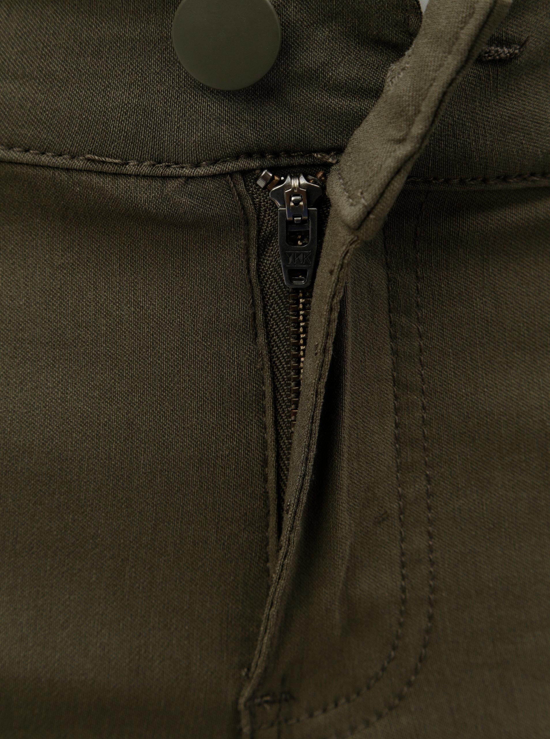 14940fbc165 Khaki slim džíny s kapsami Zizzi ...