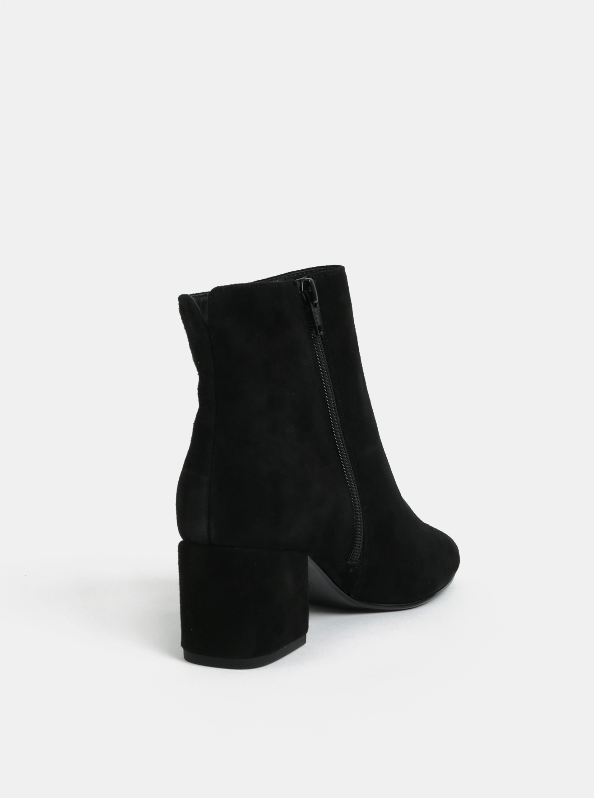 4874311ac Čierne semišové členkové topánky na podpätku Dune London | ZOOT.sk