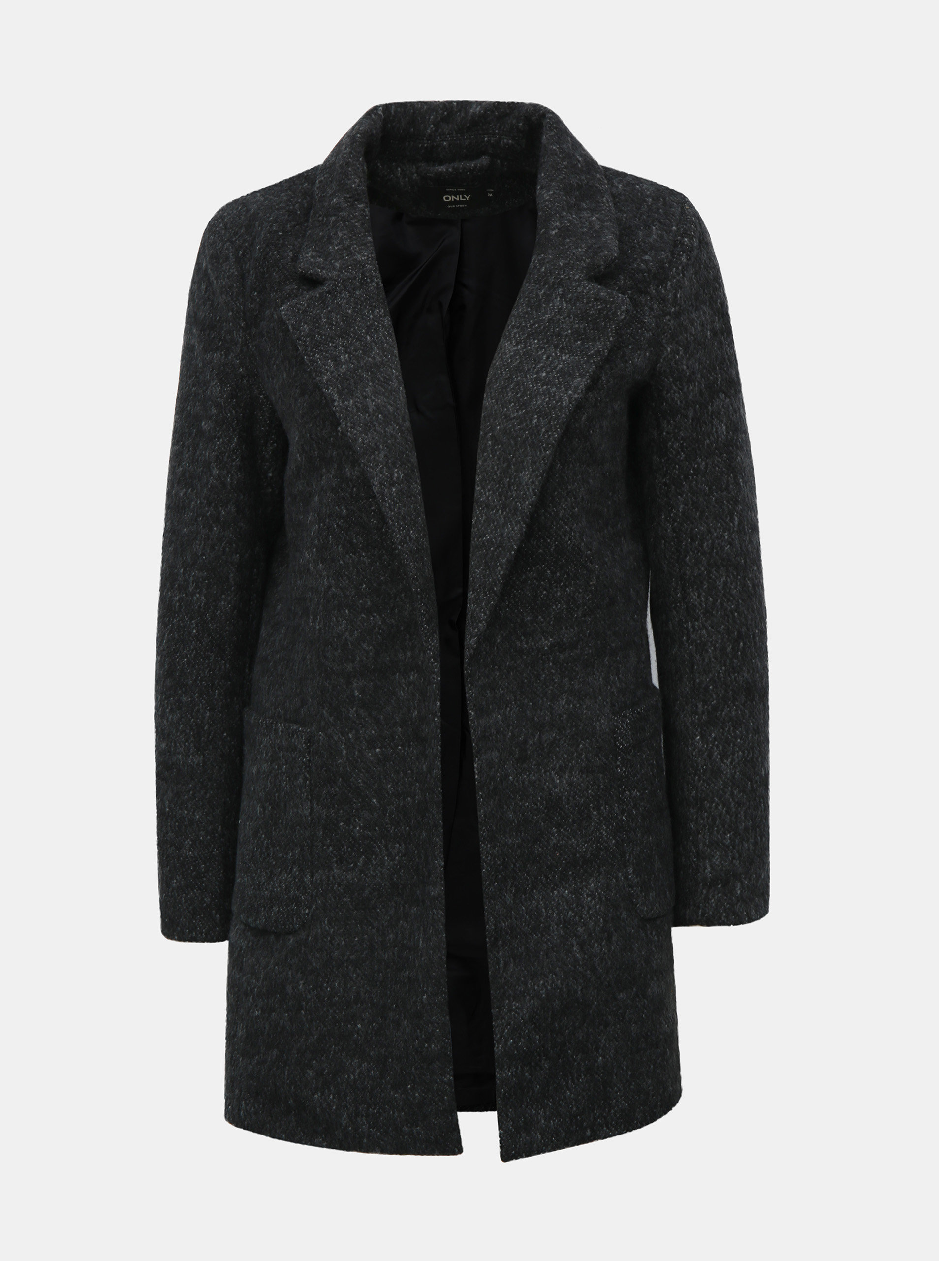 Šedý žíhaný kabát ONLY Baker