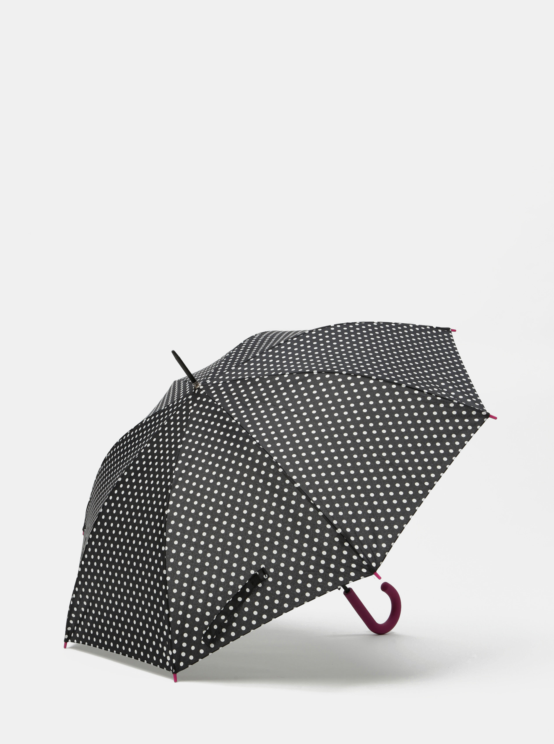 Černý puntíkovaný vystřelovací deštník Rainy Seasons