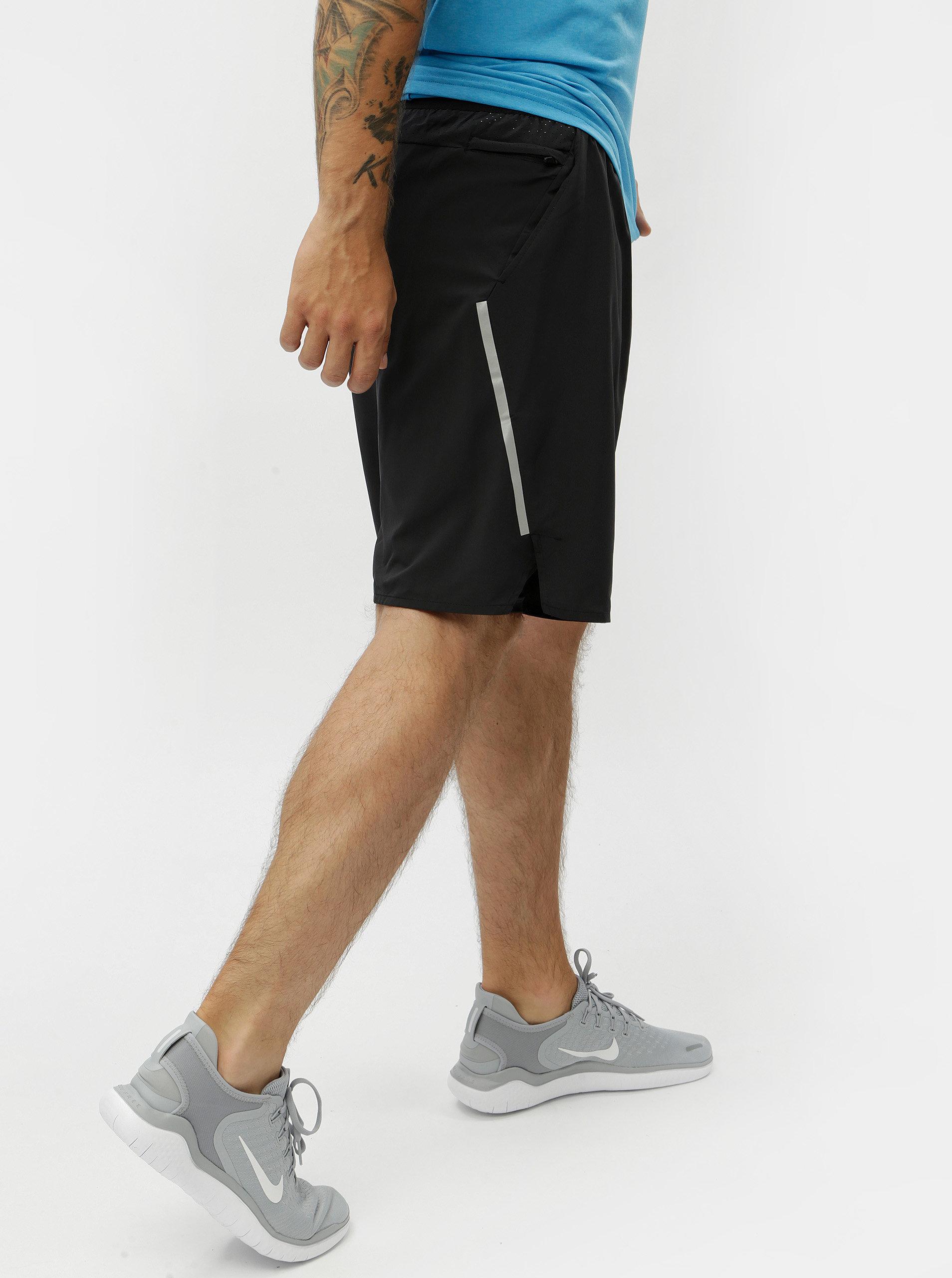 Černé pánské funkční standart fit kraťasy Nike Distance ... e0f6a1ccc4