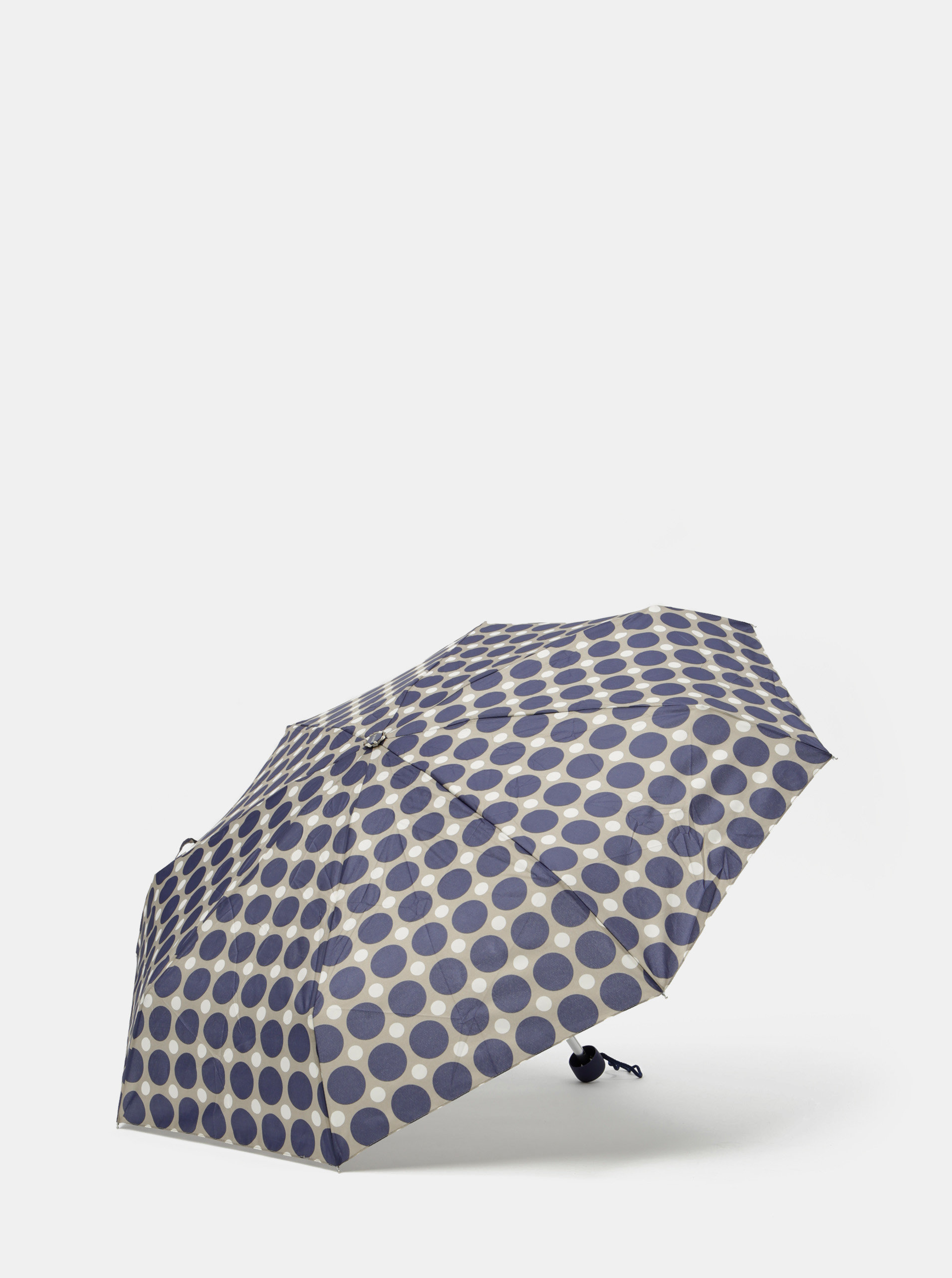 Šedo-modrý skládací puntíkovaný deštník Rainy Seasons
