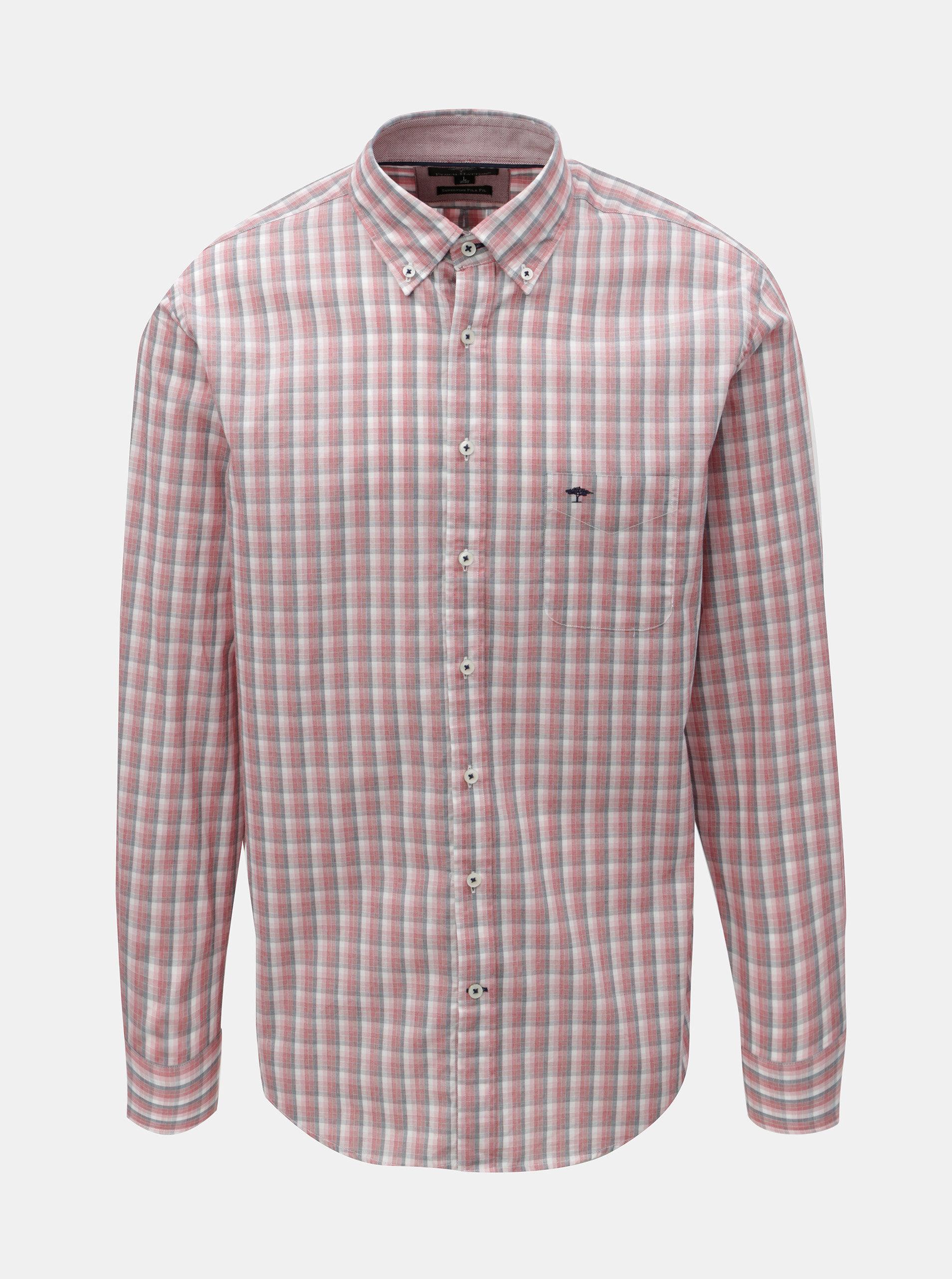 Růžová vzorovaná casual fit košile Fynch-Hatton