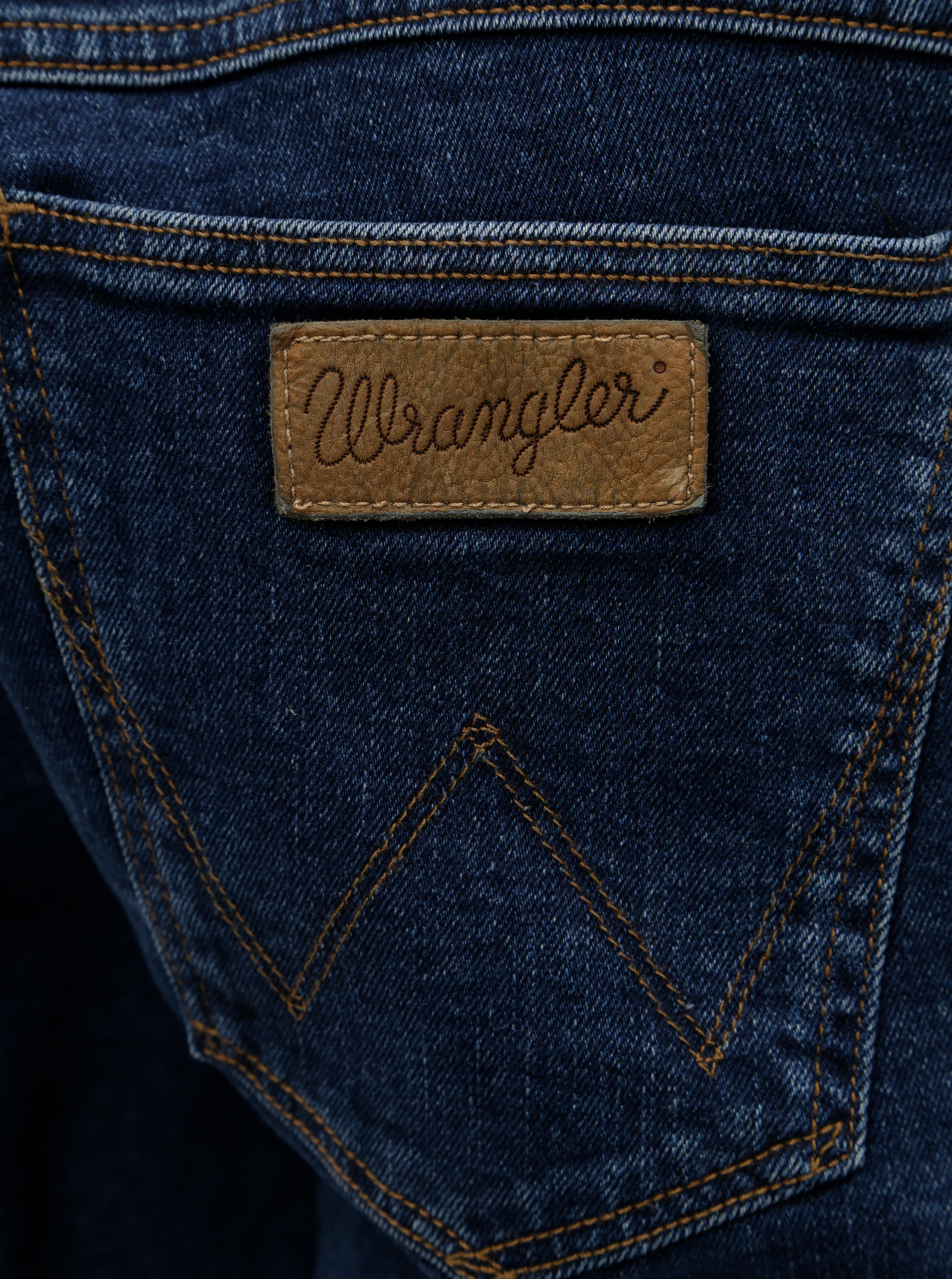 Modré slim džíny Wrangler Larston