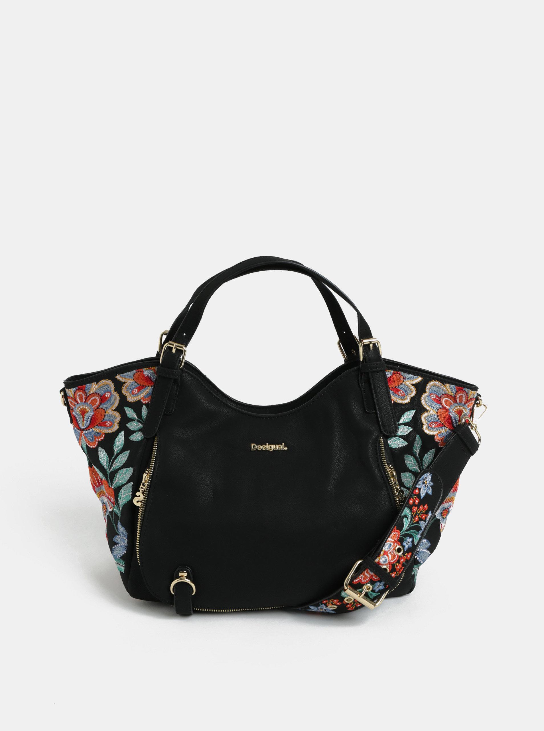 Černá kabelka s výšivkou Desigual Odissey