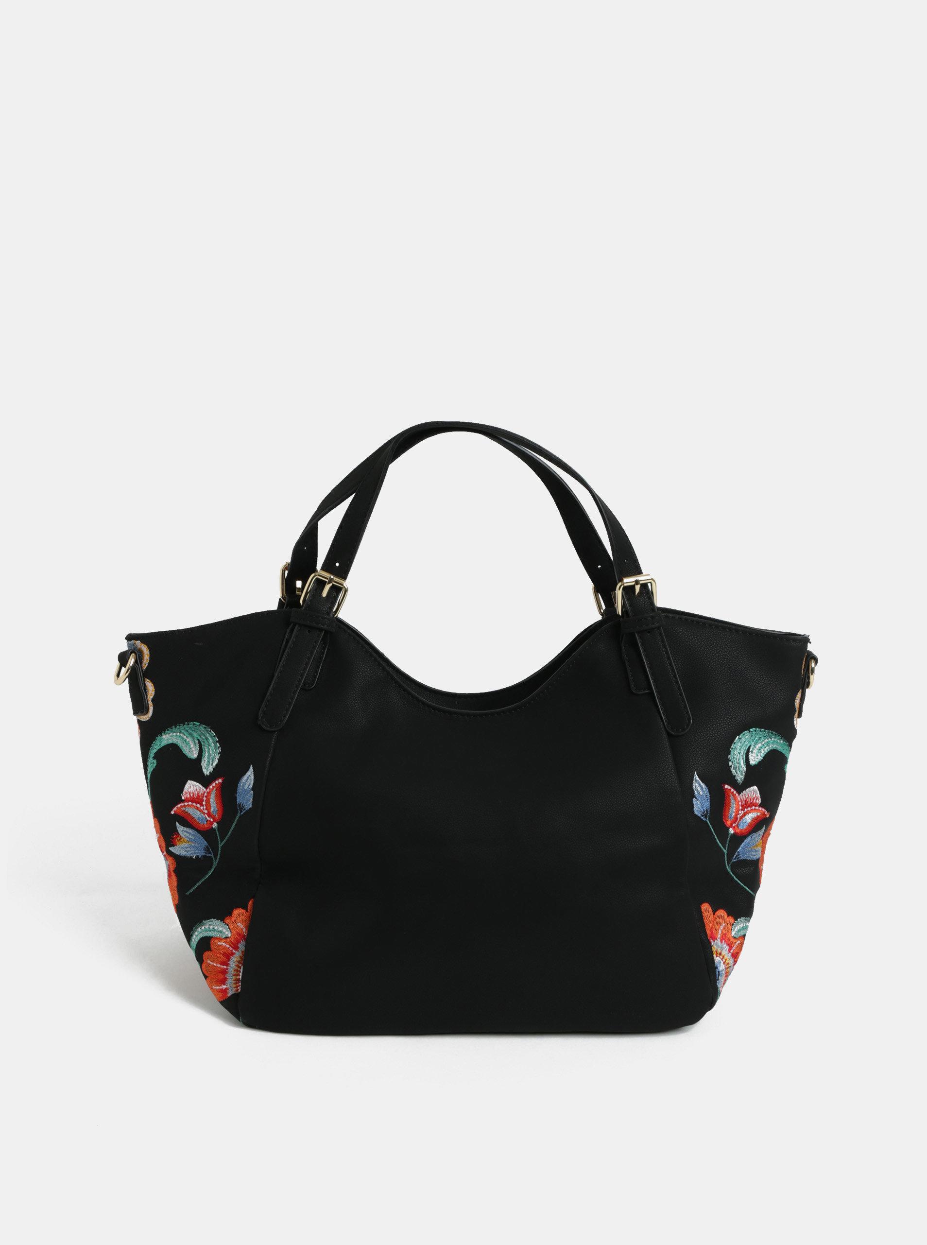 Černá kabelka s výšivkou Desigual Odissey ... 7260888b067