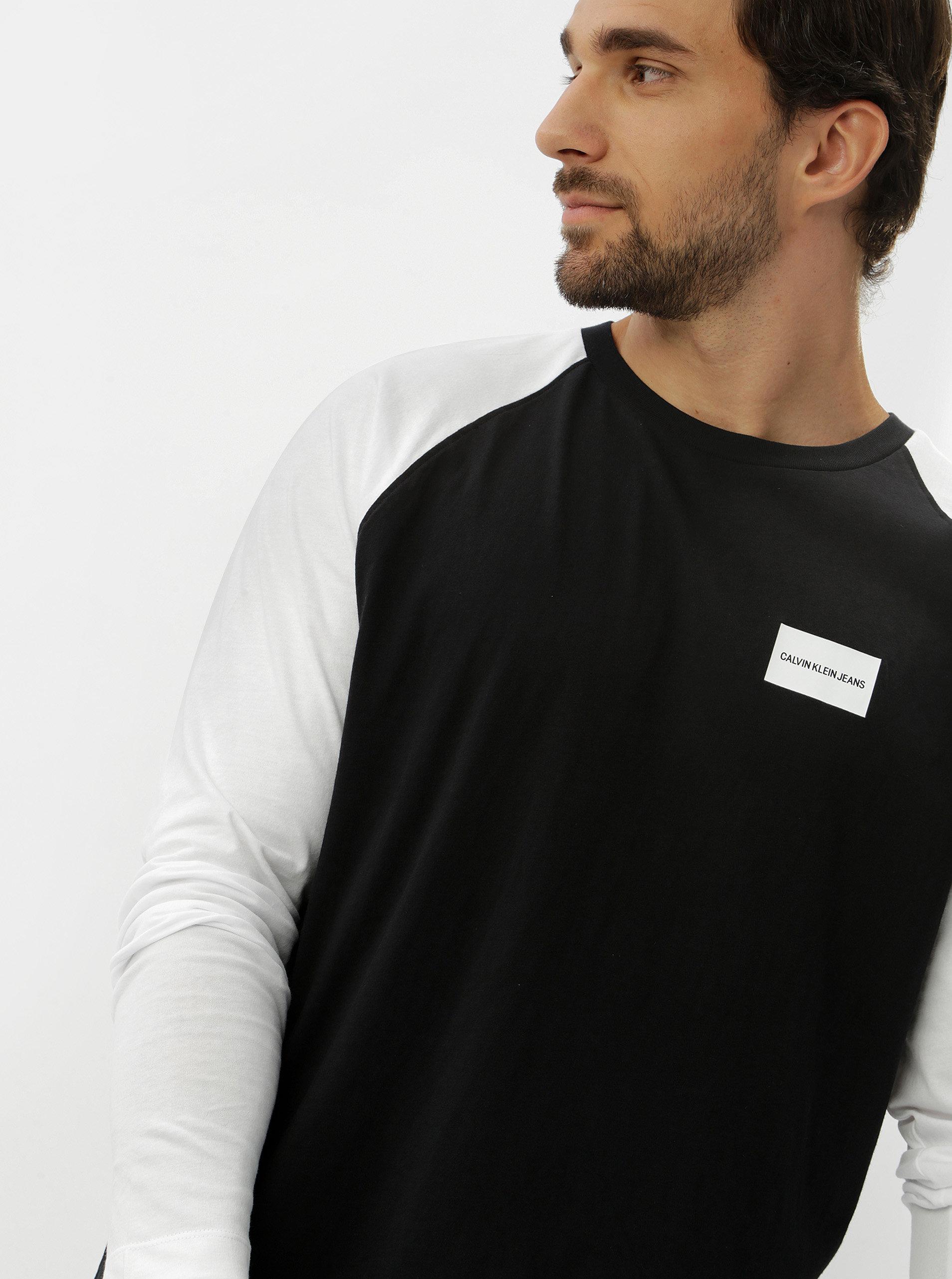 220418c2ac Černé pánské tričko s dlouhým rukávem Calvin Klein Jeans ...