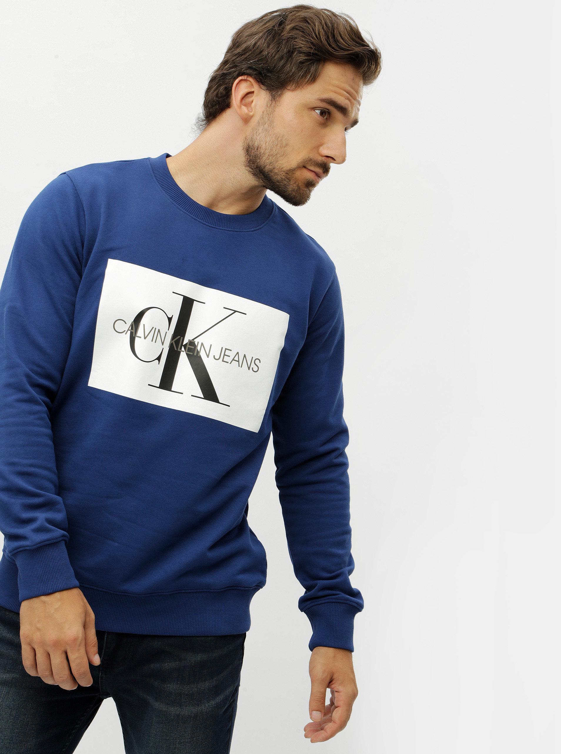 c333319f1b Modrá pánská mikina Calvin Klein Jeans ...