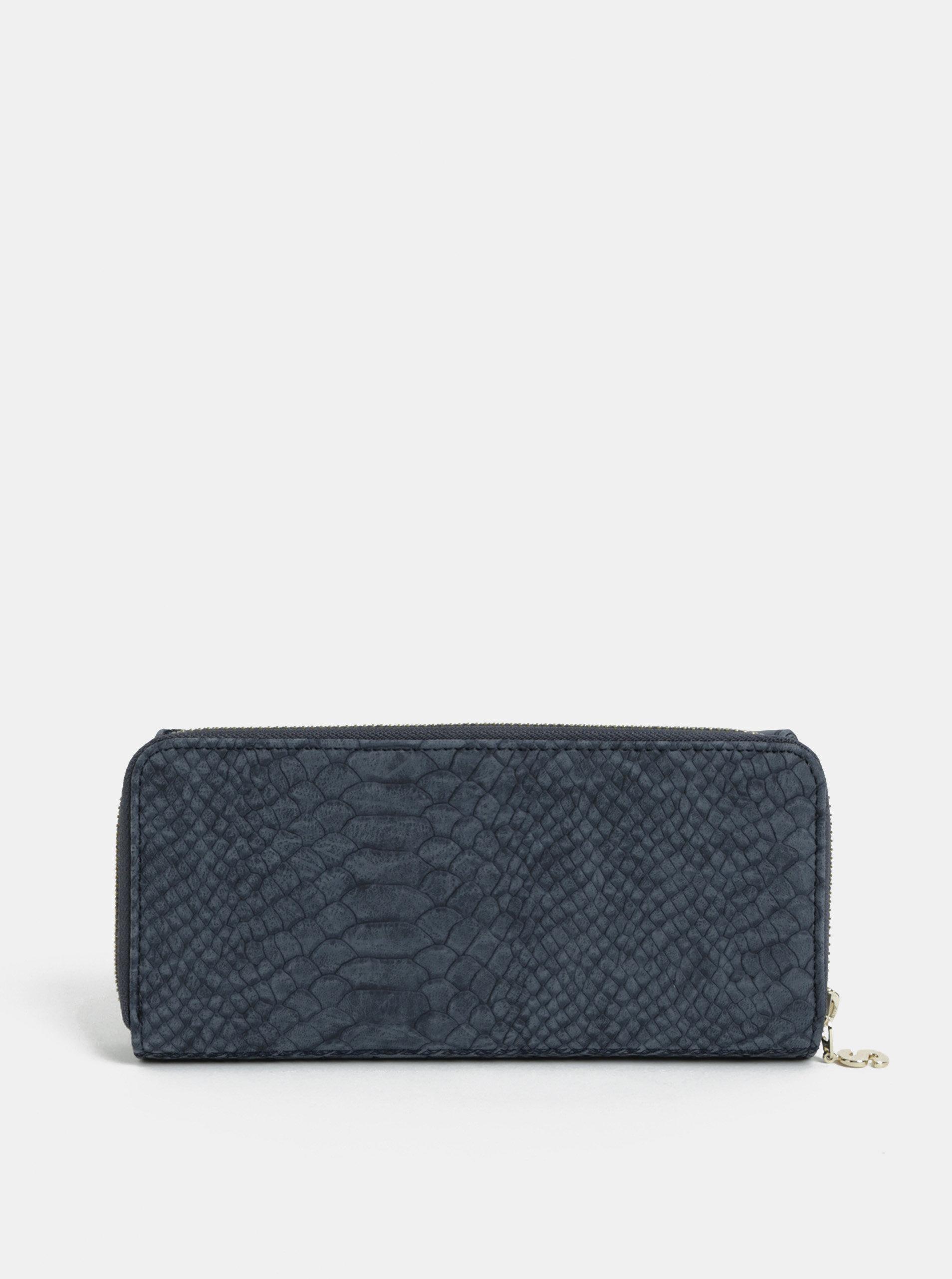 49fc3dfa79 Modrá vzorovaná peňaženka s výšivkou Desigual Aquiles ...
