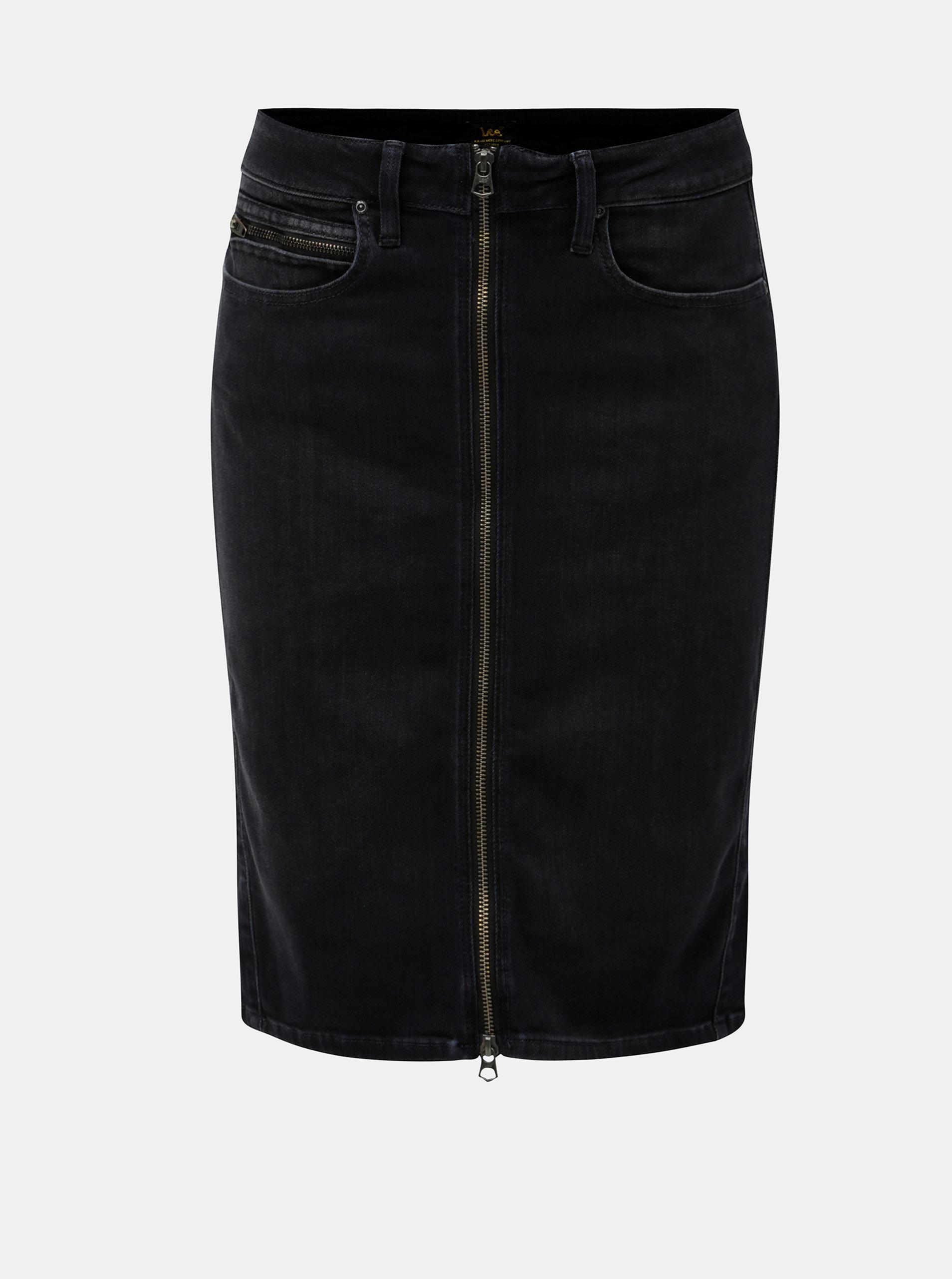 Černá džínová sukně Lee ... 31487b19f2