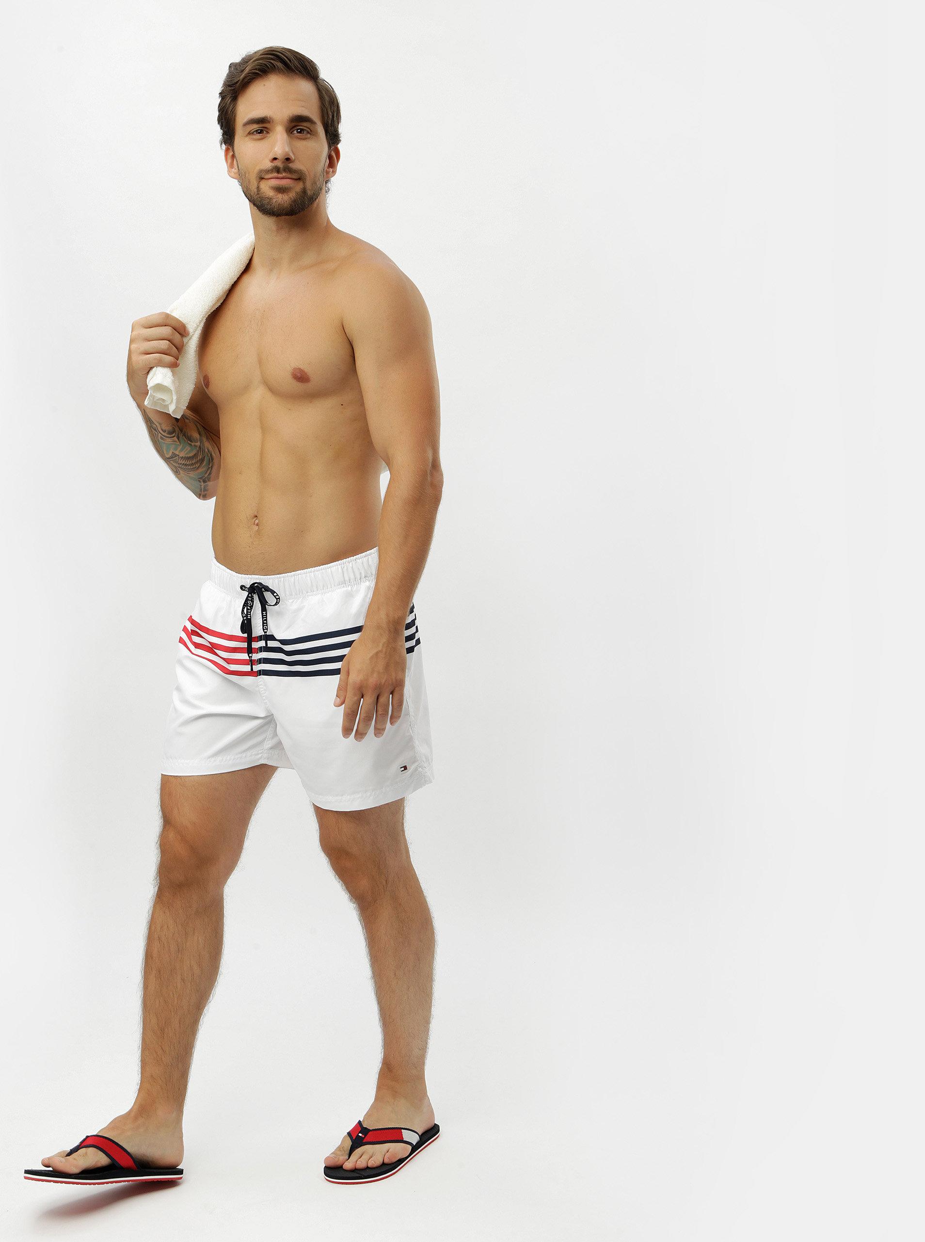 9b7c47e2b Bílé pánské plavky Tommy Hilfiger | ZOOT.cz