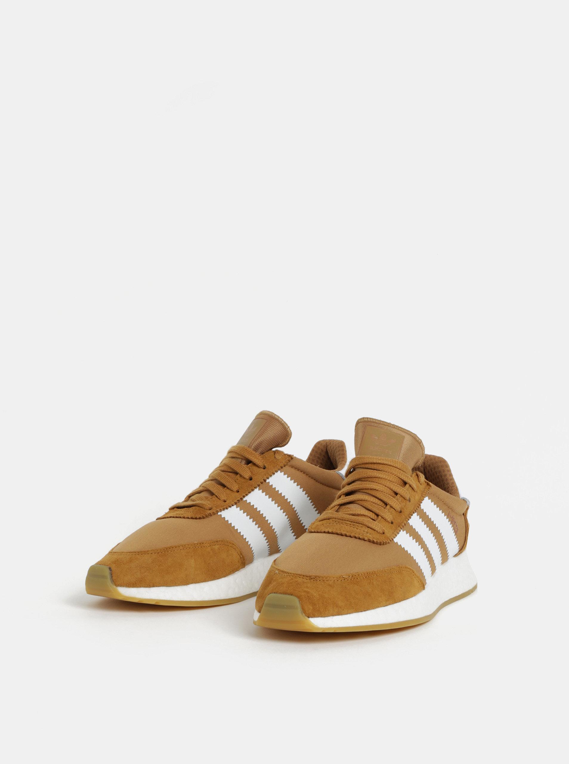 Hnědé pánské tenisky adidas Originals Iniki Runner ... db256e6c17b