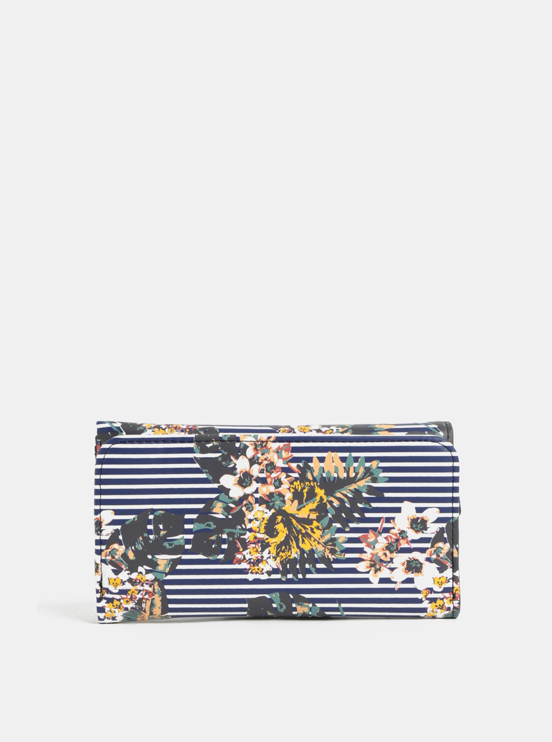 Modrá pruhovaná peněženka Roxy Medival
