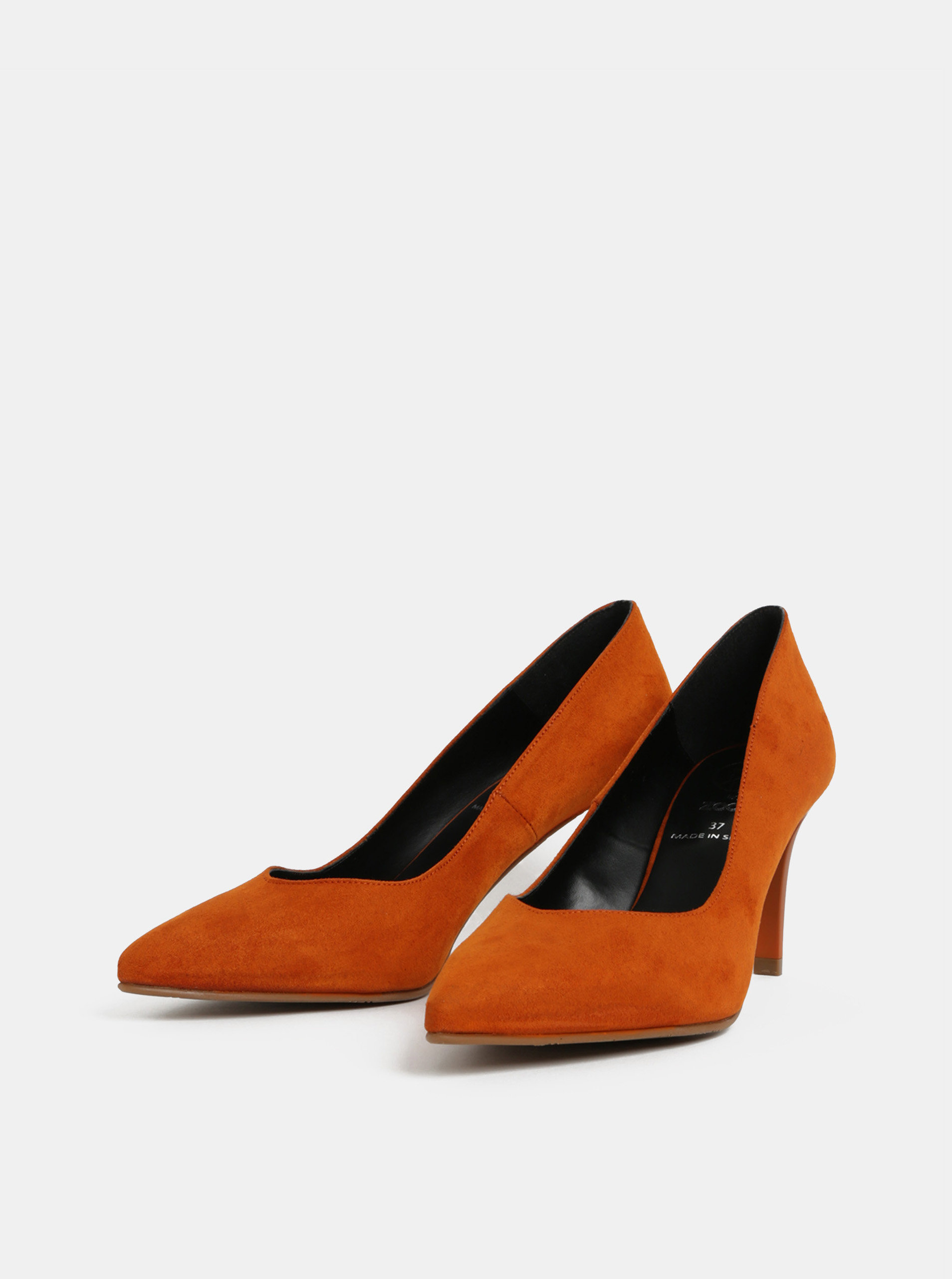 Oranžové lodičky v semišové úpravě OJJU ... 3a78ed6ca5