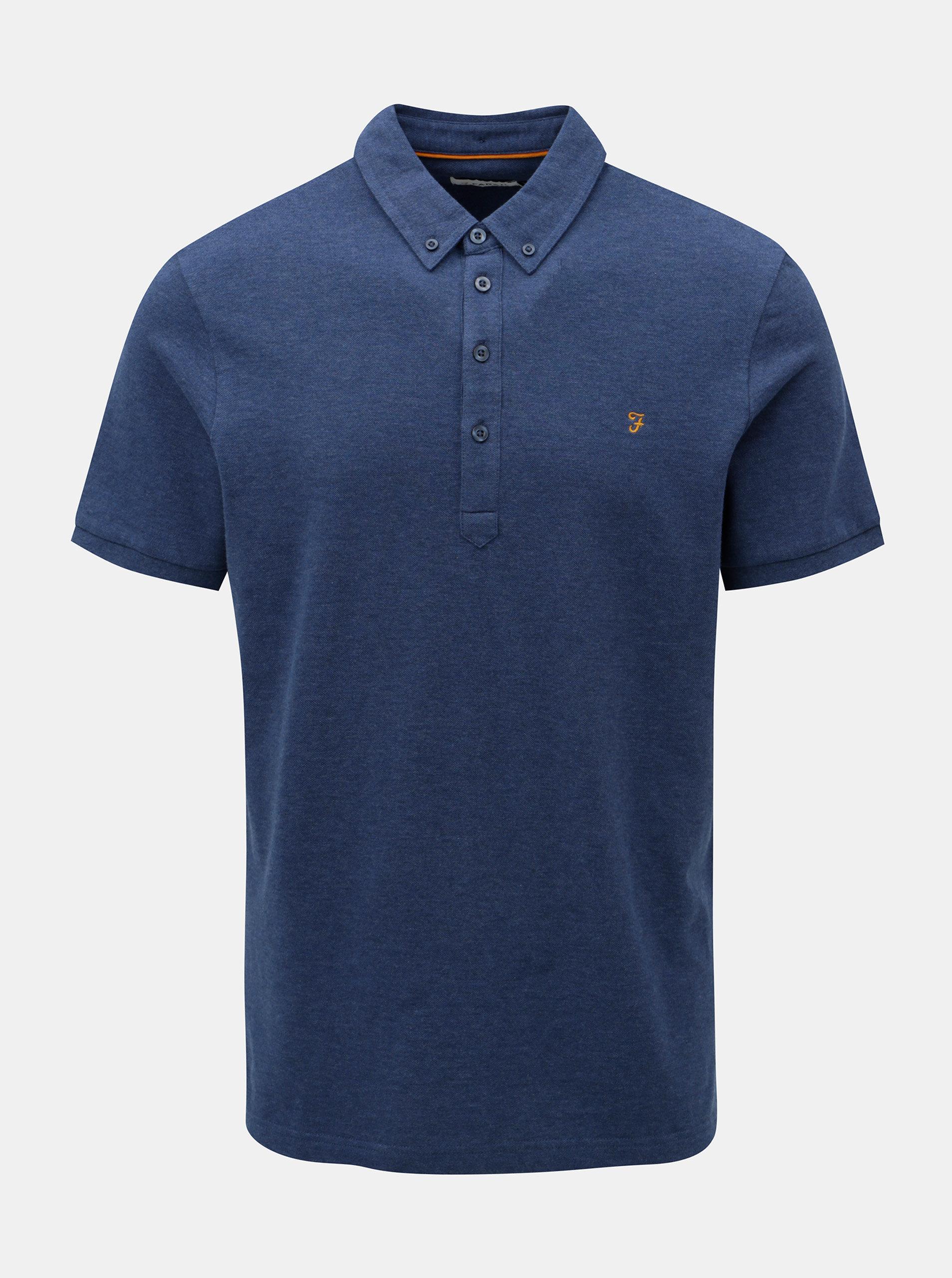 Modré žíhané polo tričko Farah Merriweather