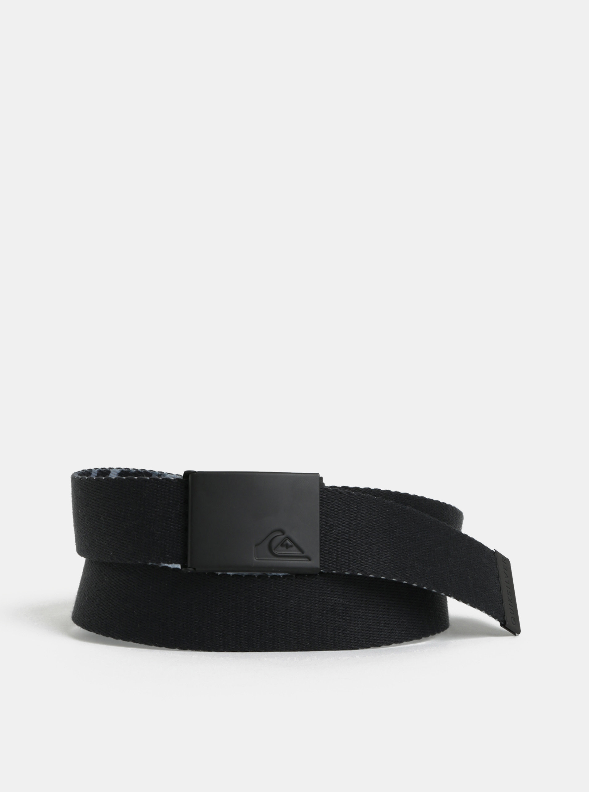 Šedo-černý pánský oboustranný pásek Quiksilver