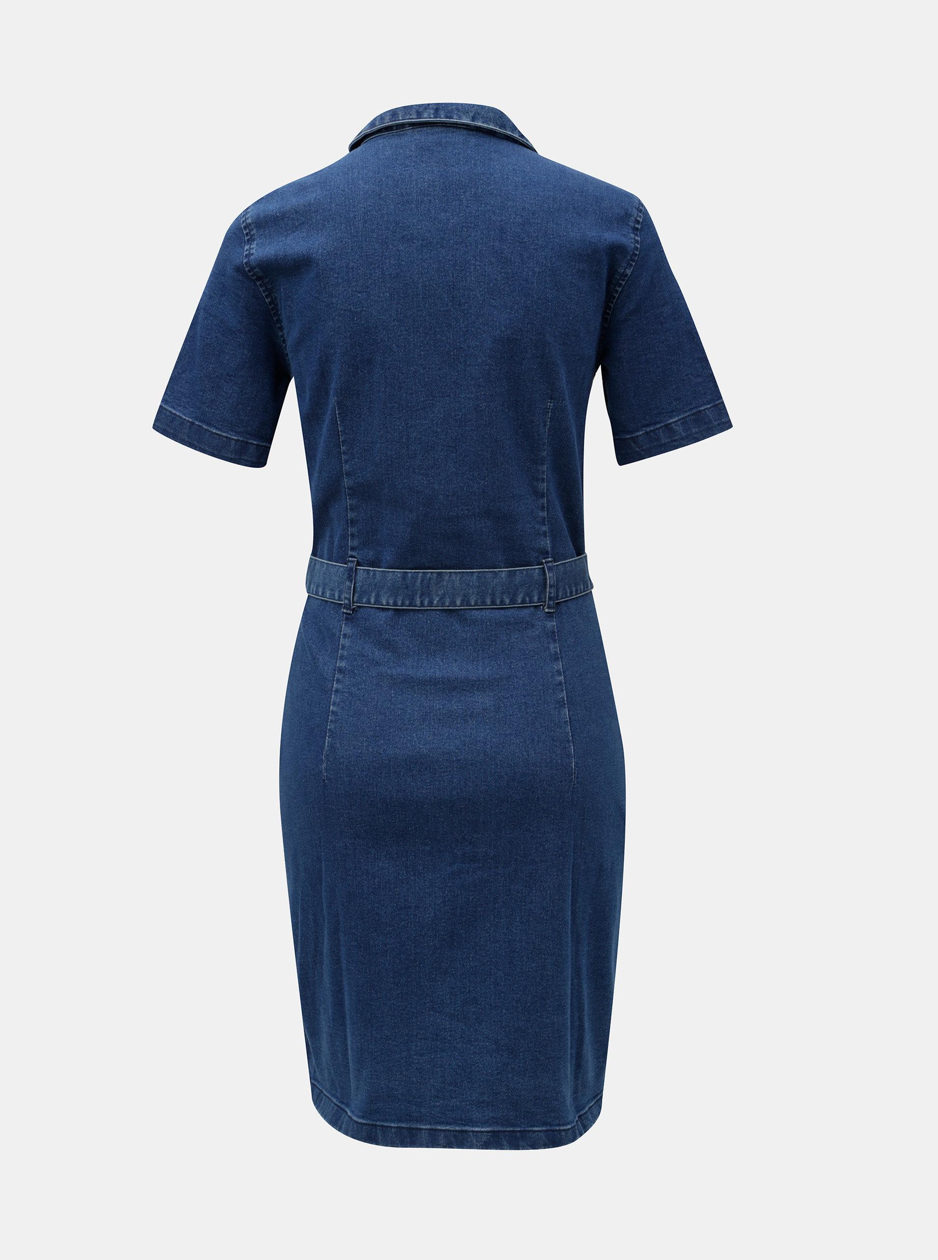 Modré džínové šaty Noisy May ... a71f2283f00