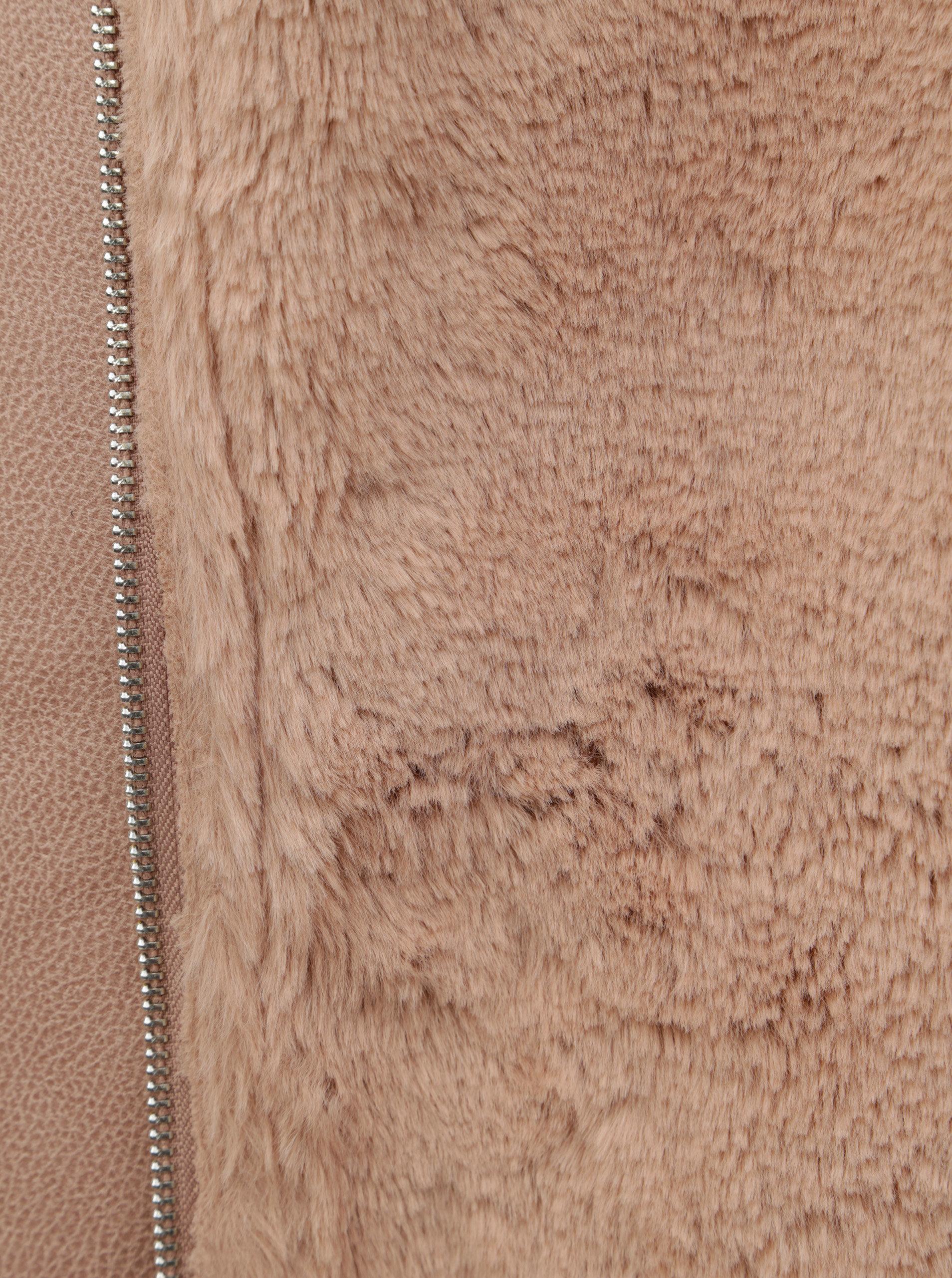 Ružová koženková bunda s umelou kožušinkou Dorothy Perkins ... 5cd9c054698
