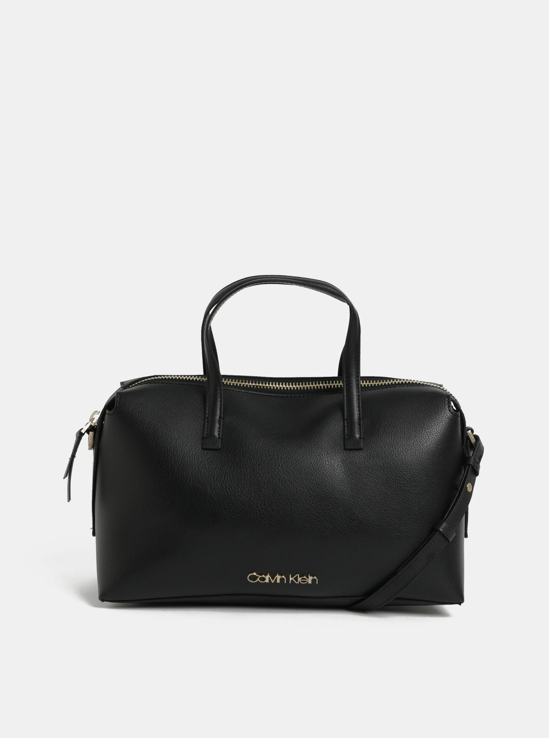 Černá koženková kabelka Calvin Klein Jeans