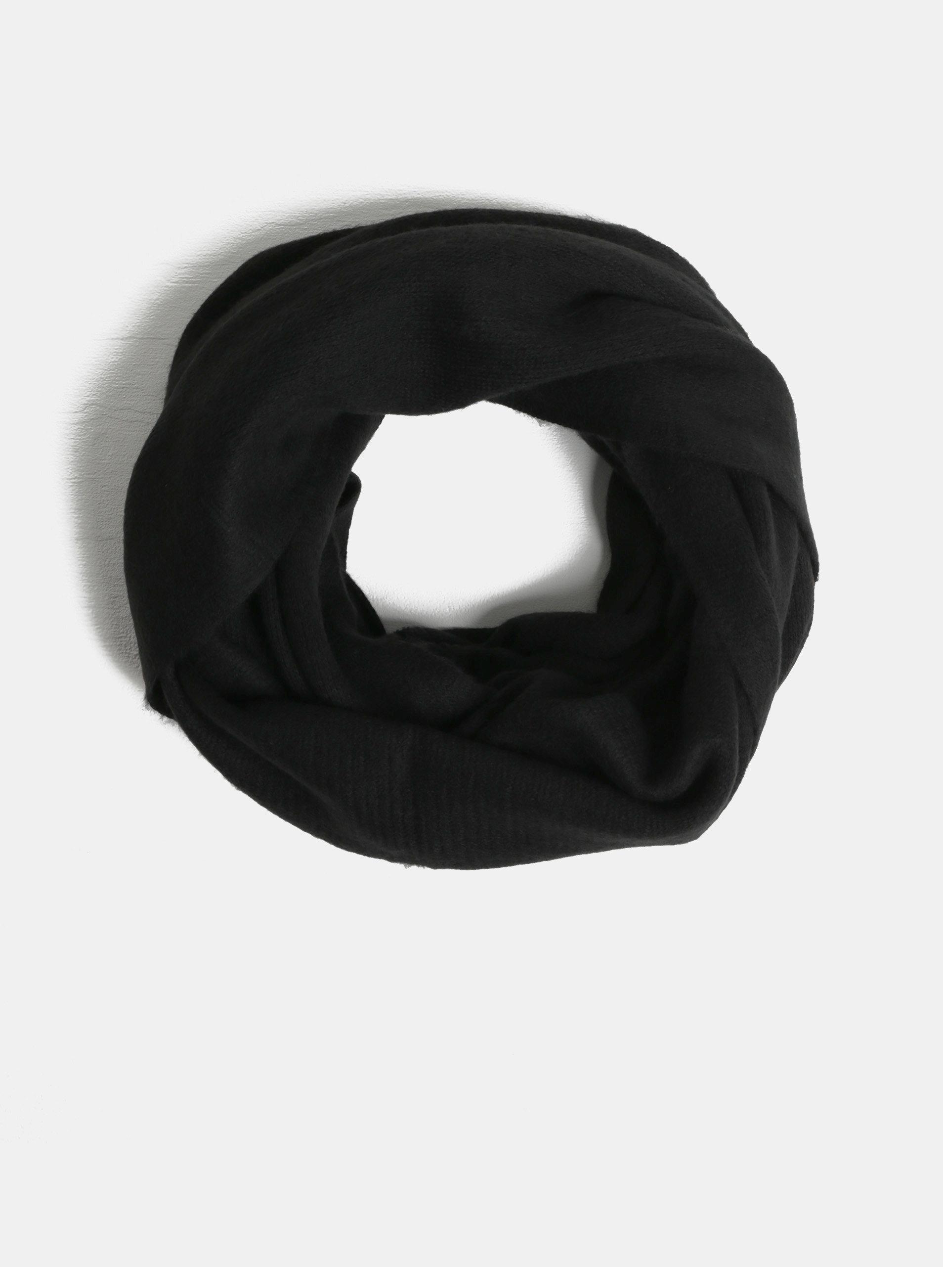 Černá dutá šála Pieces Drace