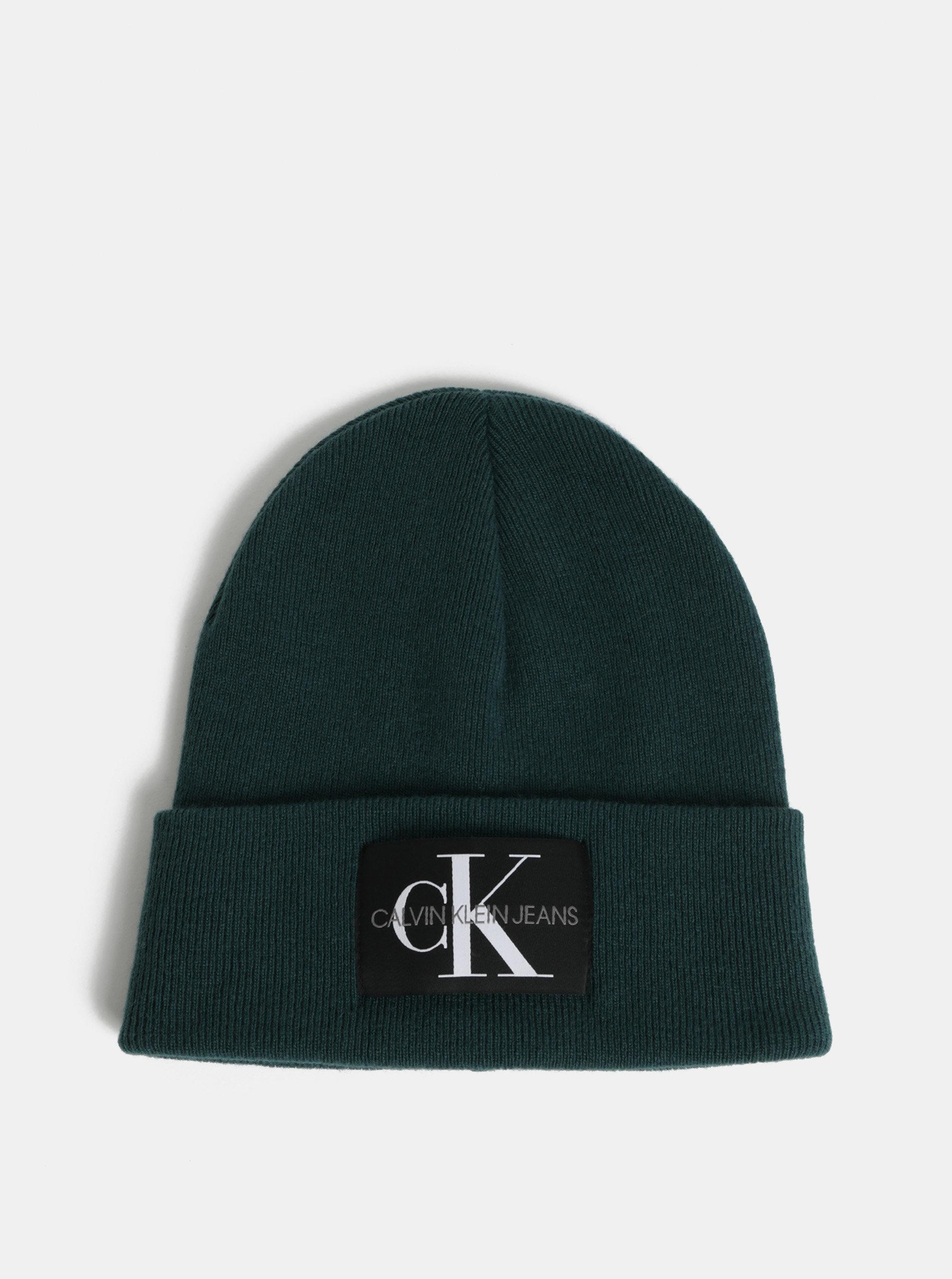 Zelená čepice s příměsí vlny a kašmíru Calvin Klein Jeans
