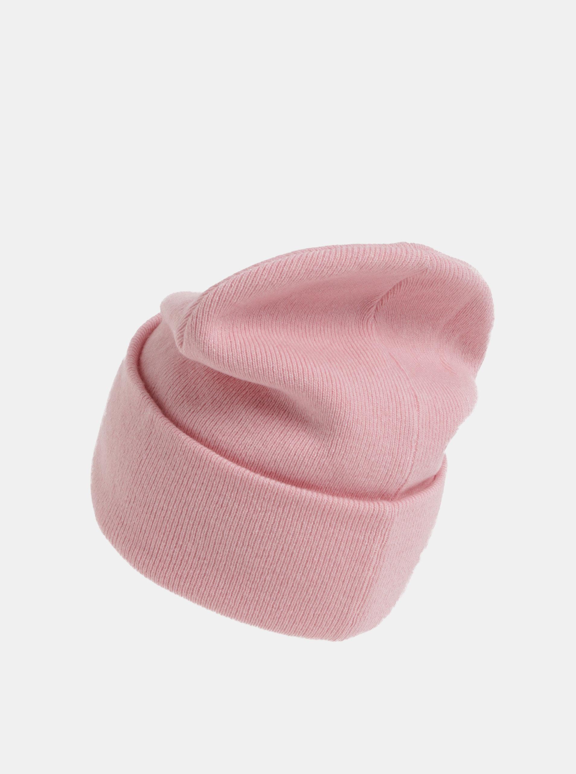d0346390b Ružová dámska čiapka s prímesou vlny a kašmíru Calvin Klein Jeans ...