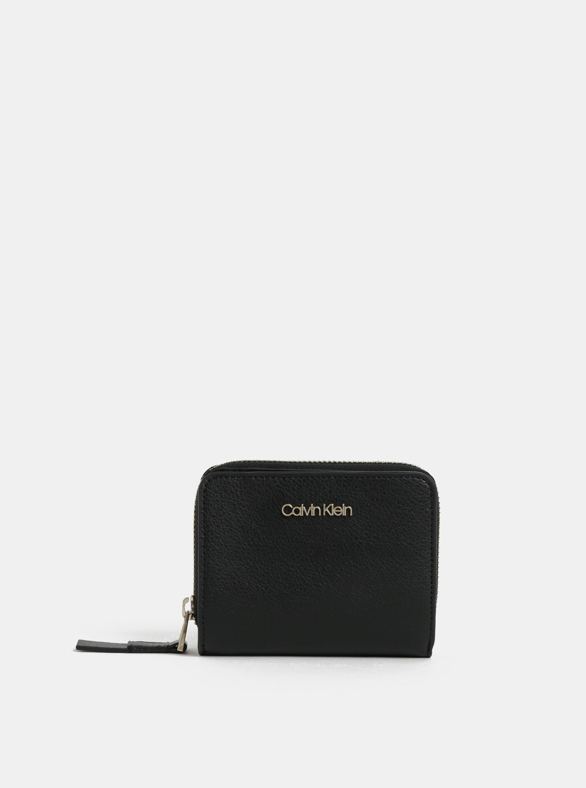 Černá dámská koženková peněženka Calvin Klein Jeans