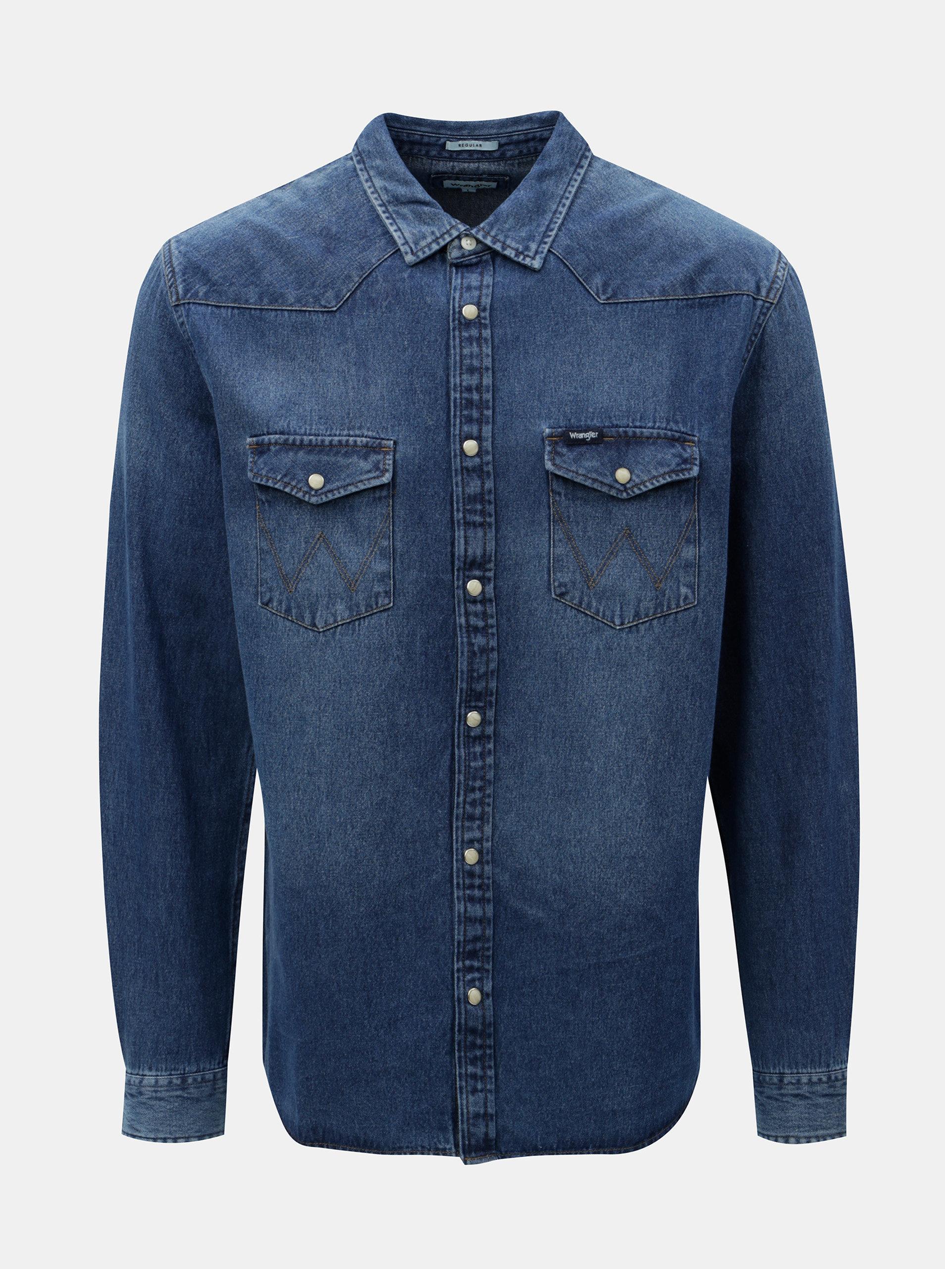 Tmavě modrá džínová košile Wrangler Western