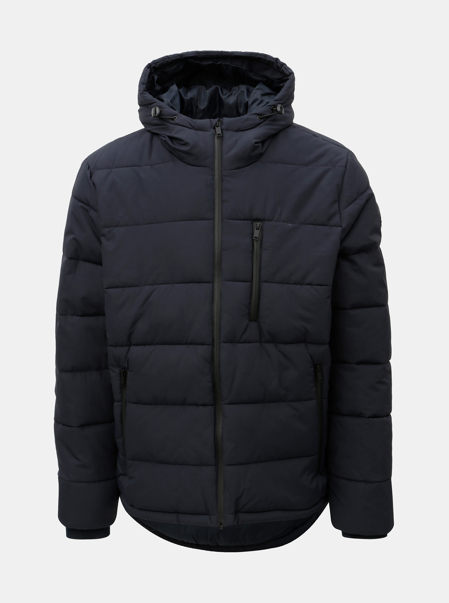 Tmavě modrá prošívaná zimní bunda Burton Menswear London Aspen