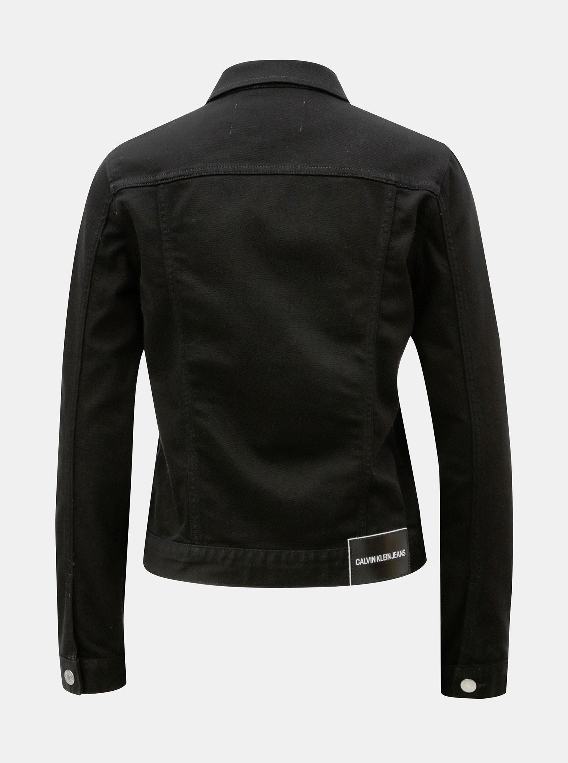 e32bb338e2 Černá dámská džínová bunda Calvin Klein Jeans ...