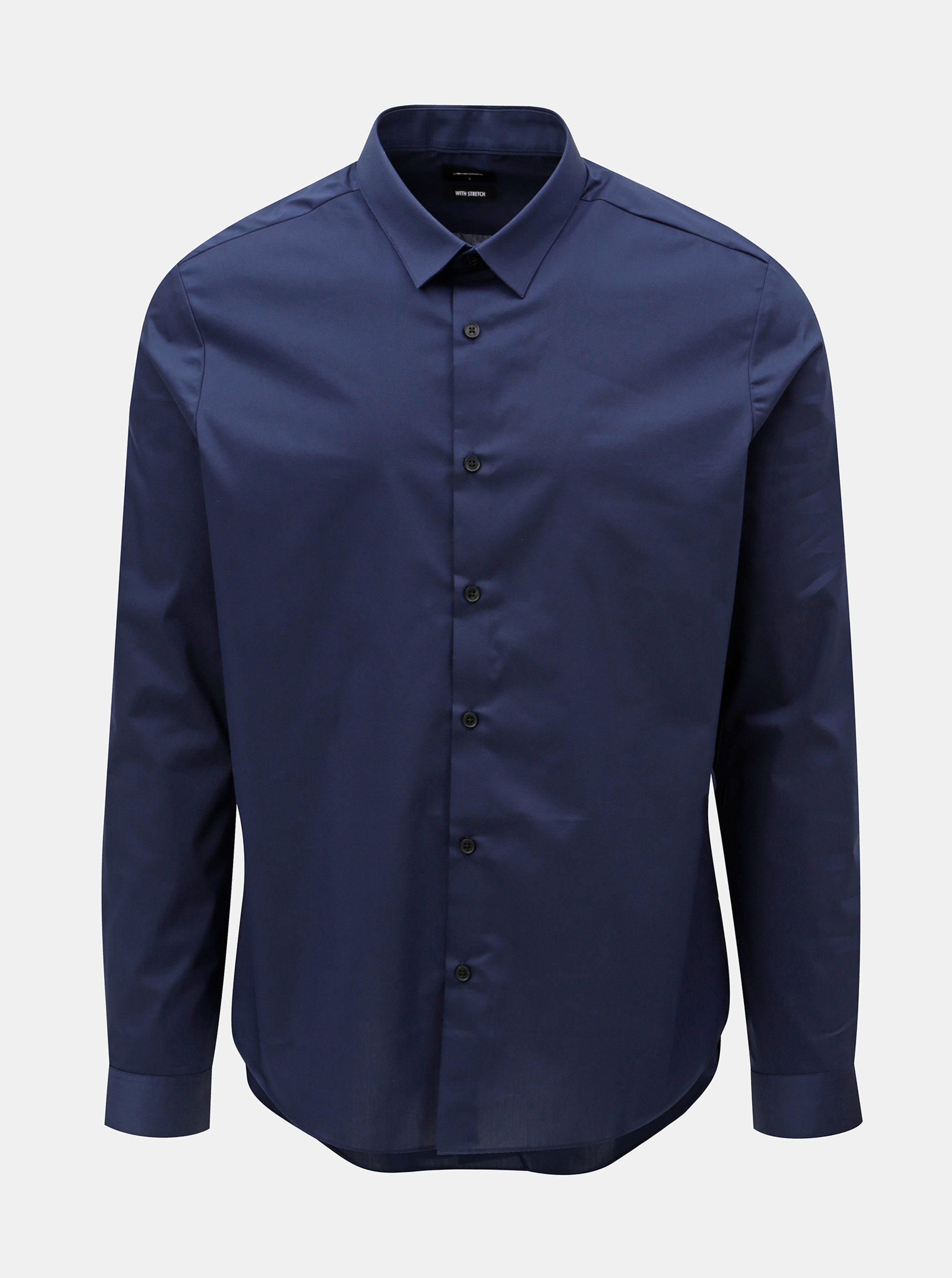 Tmavě modrá skinny fit košile Burton Menswear London