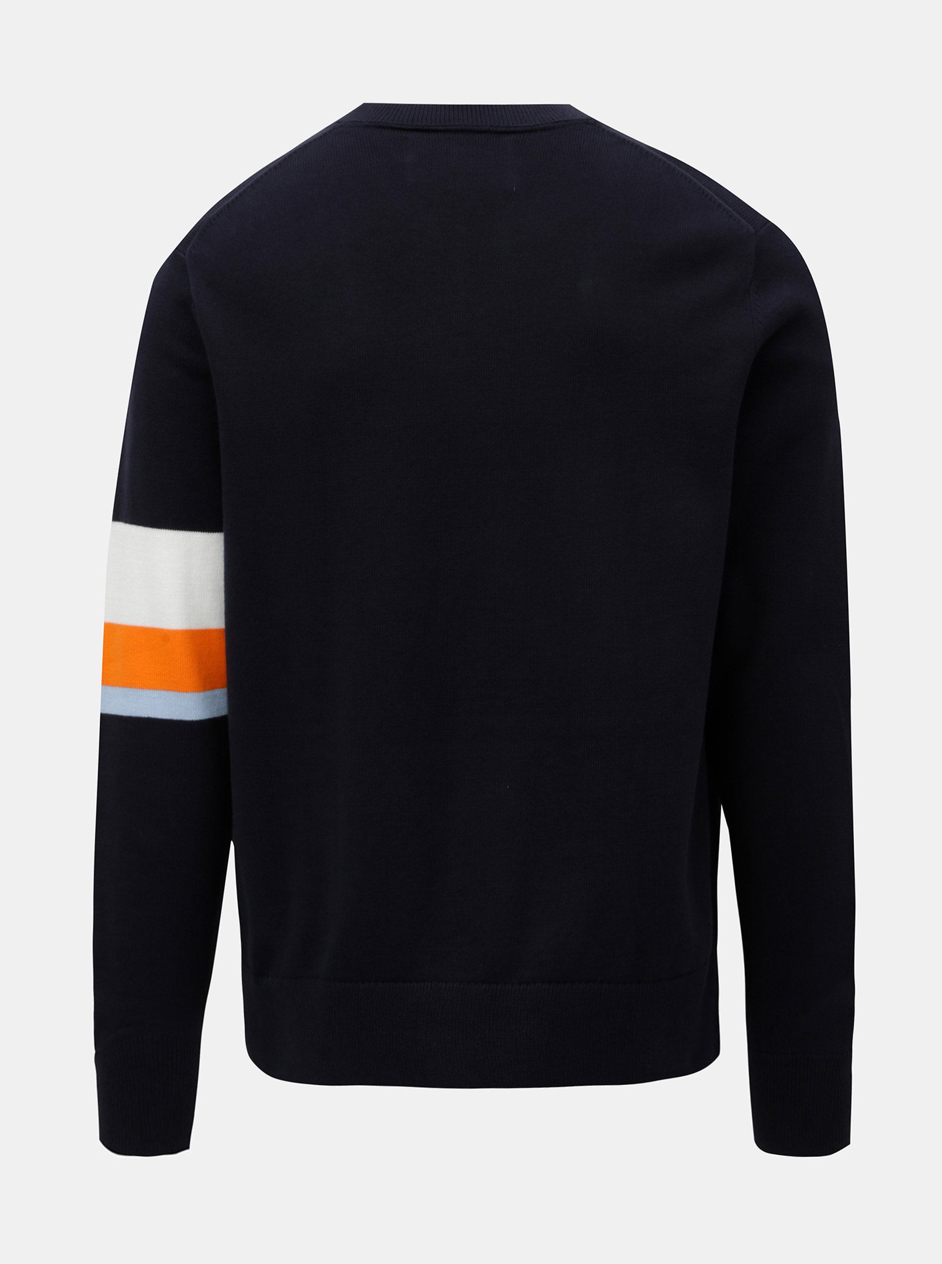 13e7b9dfb2 Tmavomodrý pánsky sveter s pruhmi Calvin Klein Jeans ...