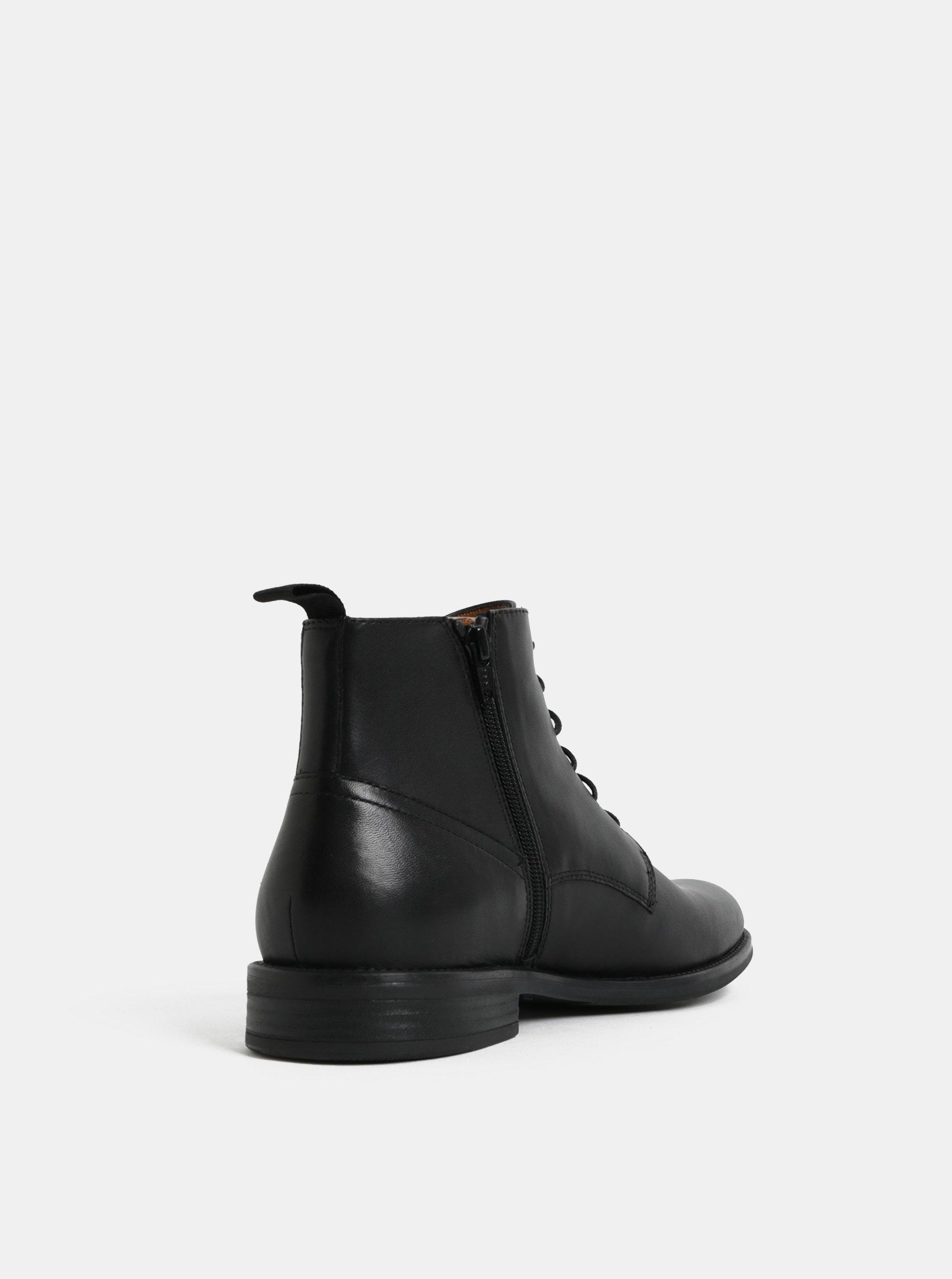 09a7de3bce Čierne pánske kožené členkové topánky Vagabond Salvatore ...