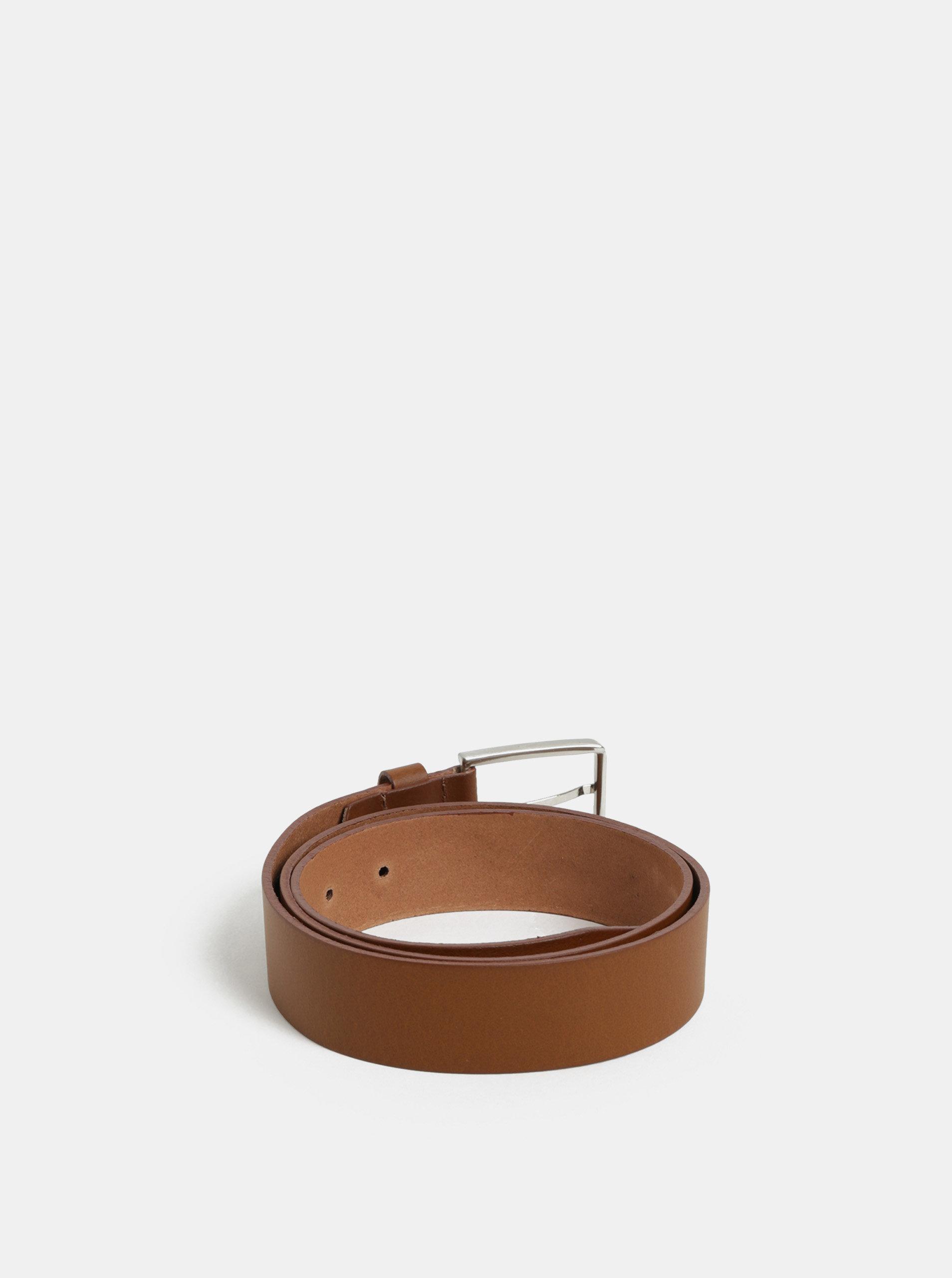 Hnedý pánsky kožený opasok Tommy HIlfiger ... 649979bf821
