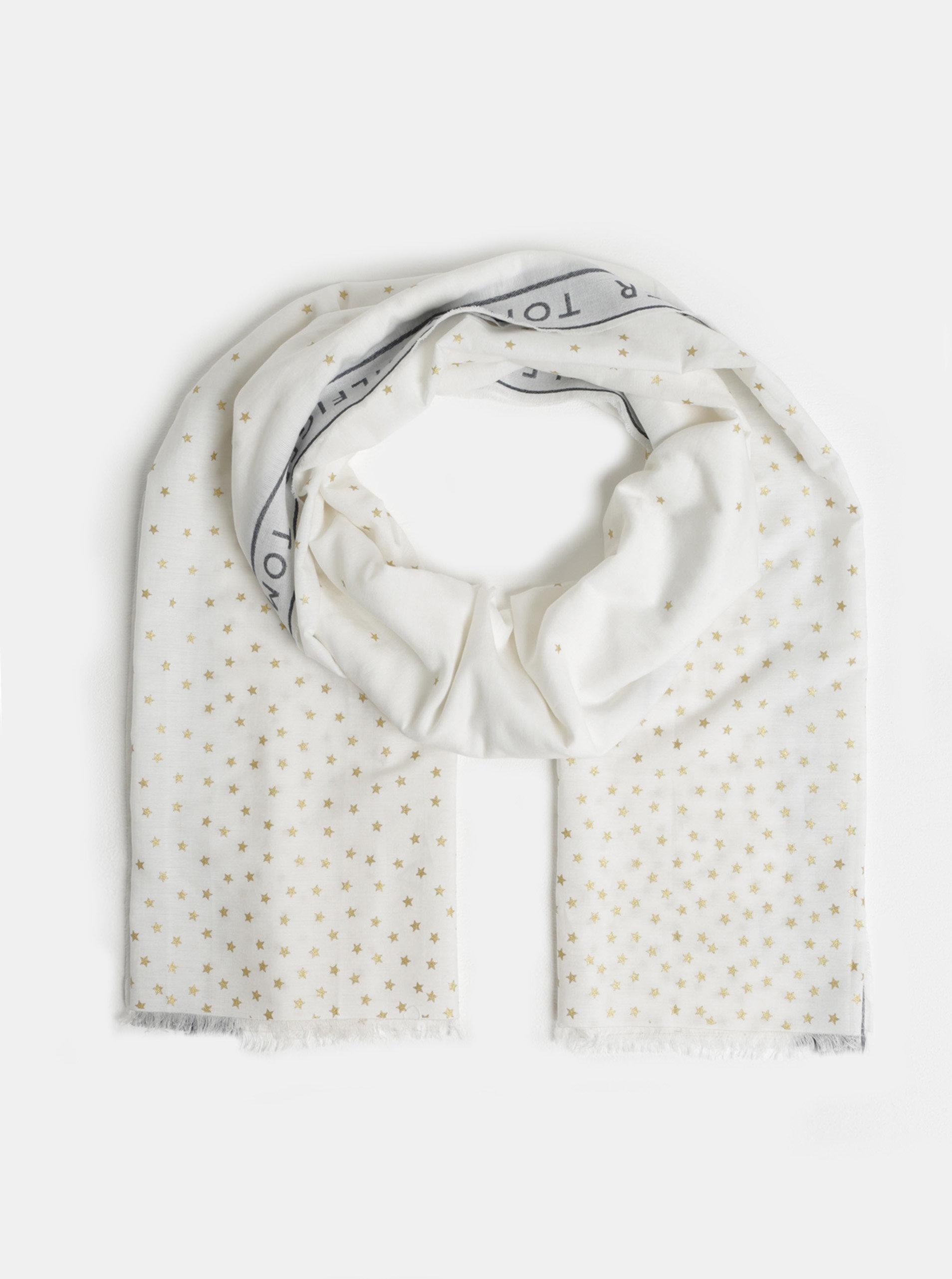 Bílý dámský vzorovaný šátek Tommy Hilfiger