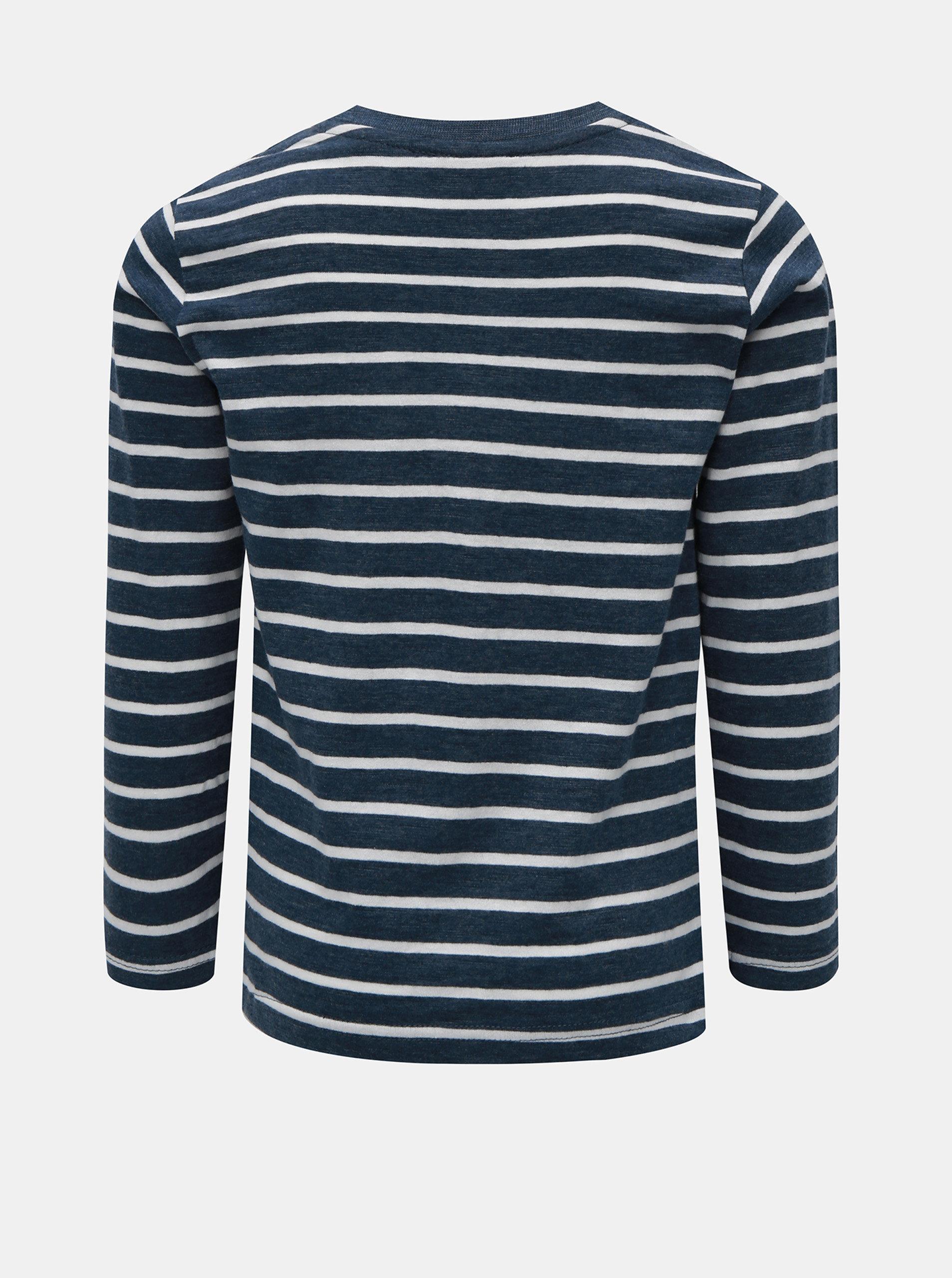 Bílo-modré klučičí pruhované tričko s potiskem Blue Seven ... b4beb9cb76