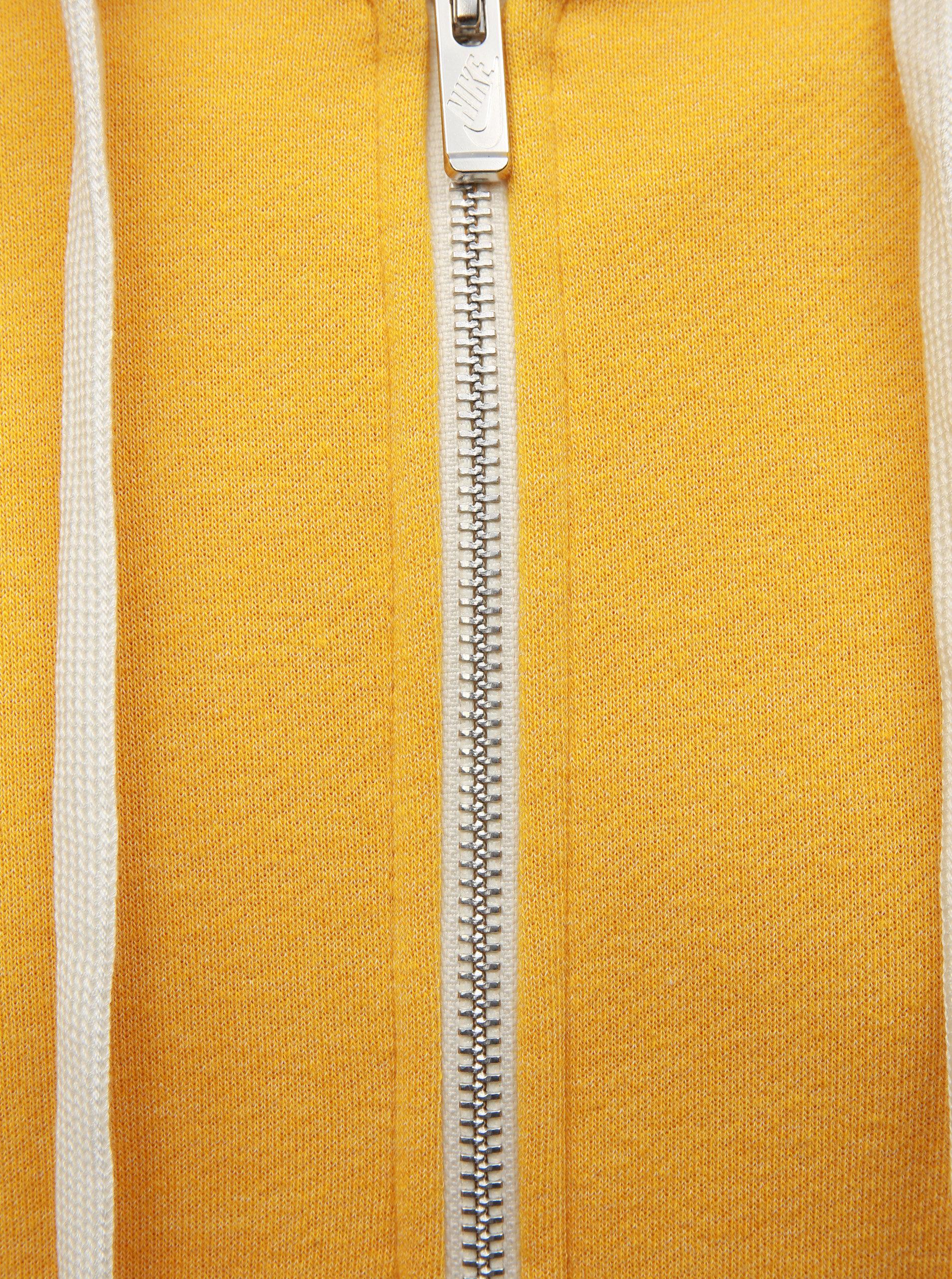 Žlutá pánská mikina na zip s výšivkou Nike Heritage ... 73595b37904