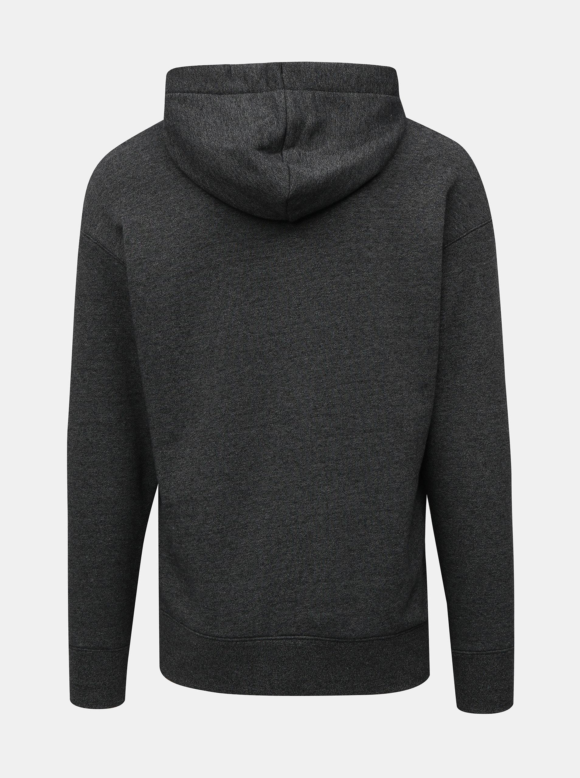 Tmavě šedá pánská žíhaná mikina na zip s výšivkou Nike Heritage ... 95e608a95e4