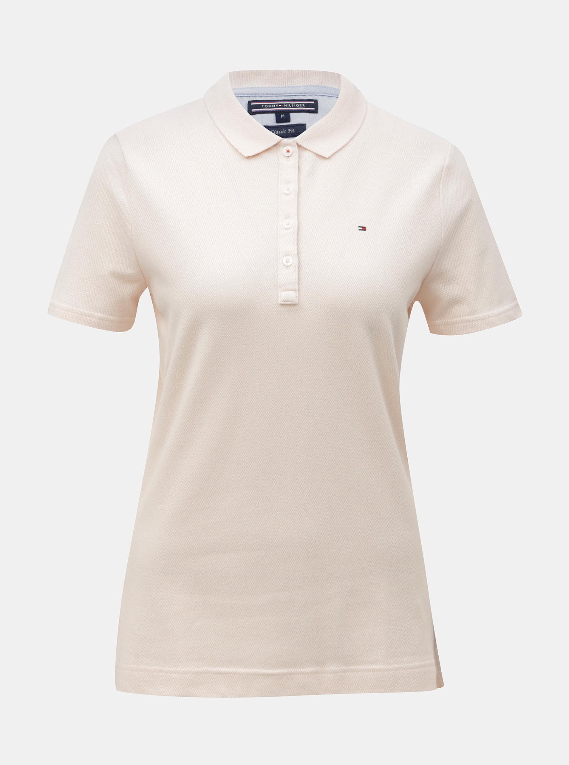 Svetloružové dámske polo tričko Tommy Hilfiger ... 61629d9198