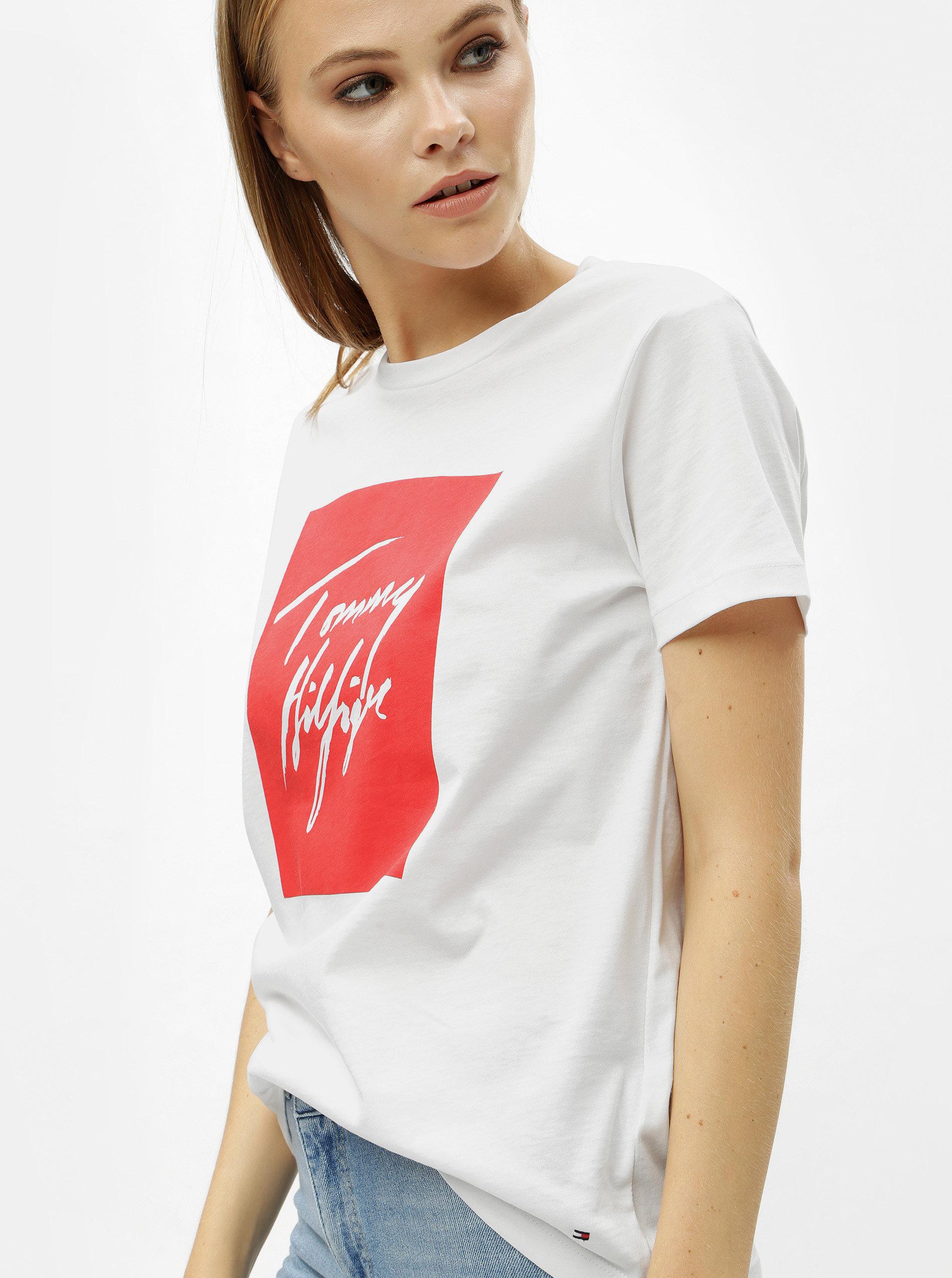 Bílé dámské tričko s potiskem Tommy Hilfiger Effy
